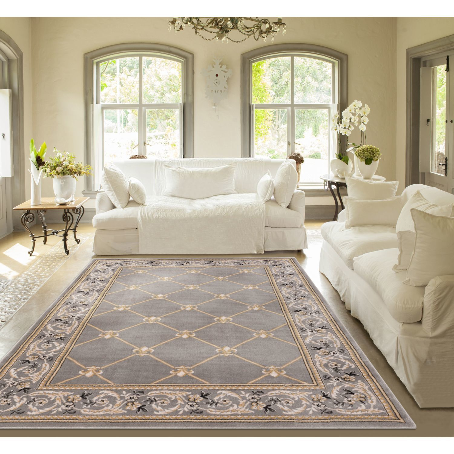 Shop Well Woven Agra Royal Trellis Mansion Area Rug - XL - Free ...