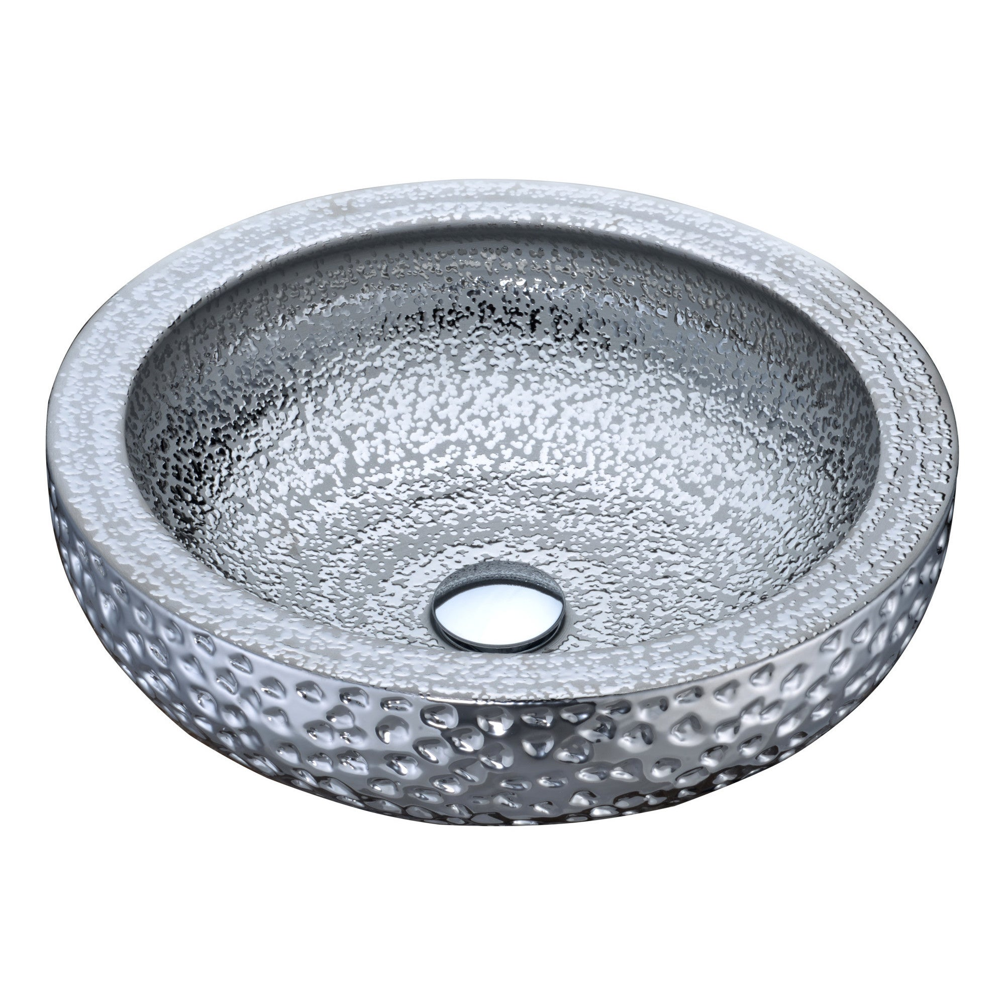 ANZZI Regalia Series Vessel Sink in Speckled Silver - Free Shipping ...