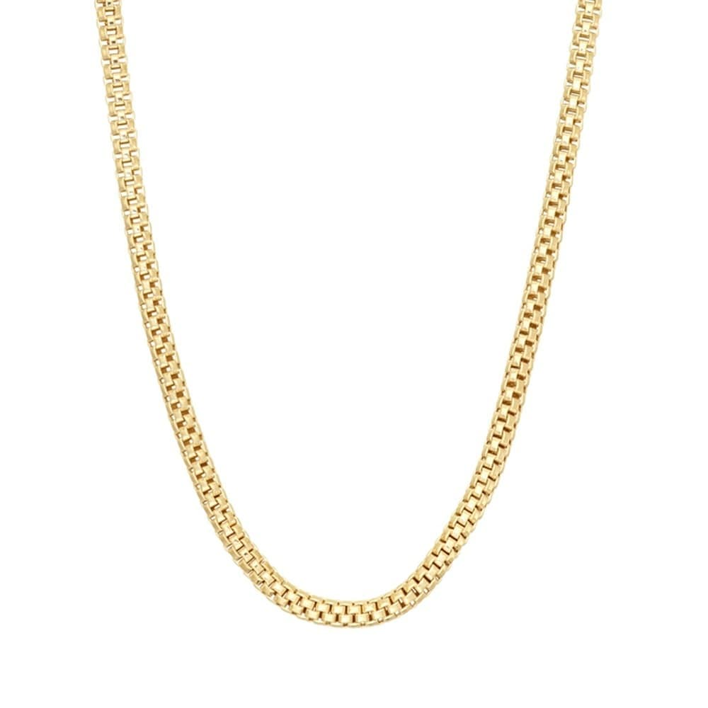 amazon necklace com dp chain link yellow flat mariner gold inches