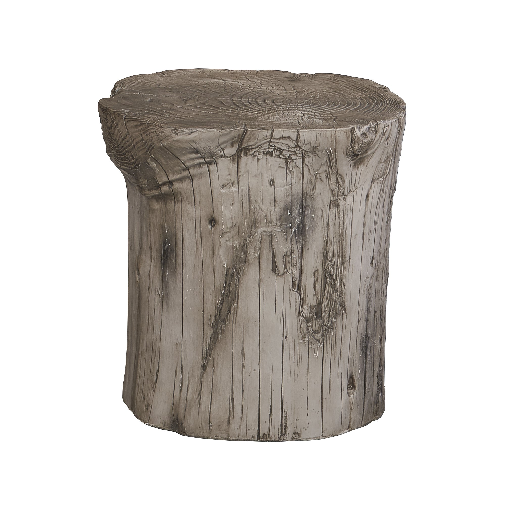 Hunter Grey Tree Stump Accent Table Free Shipping Today 16303800