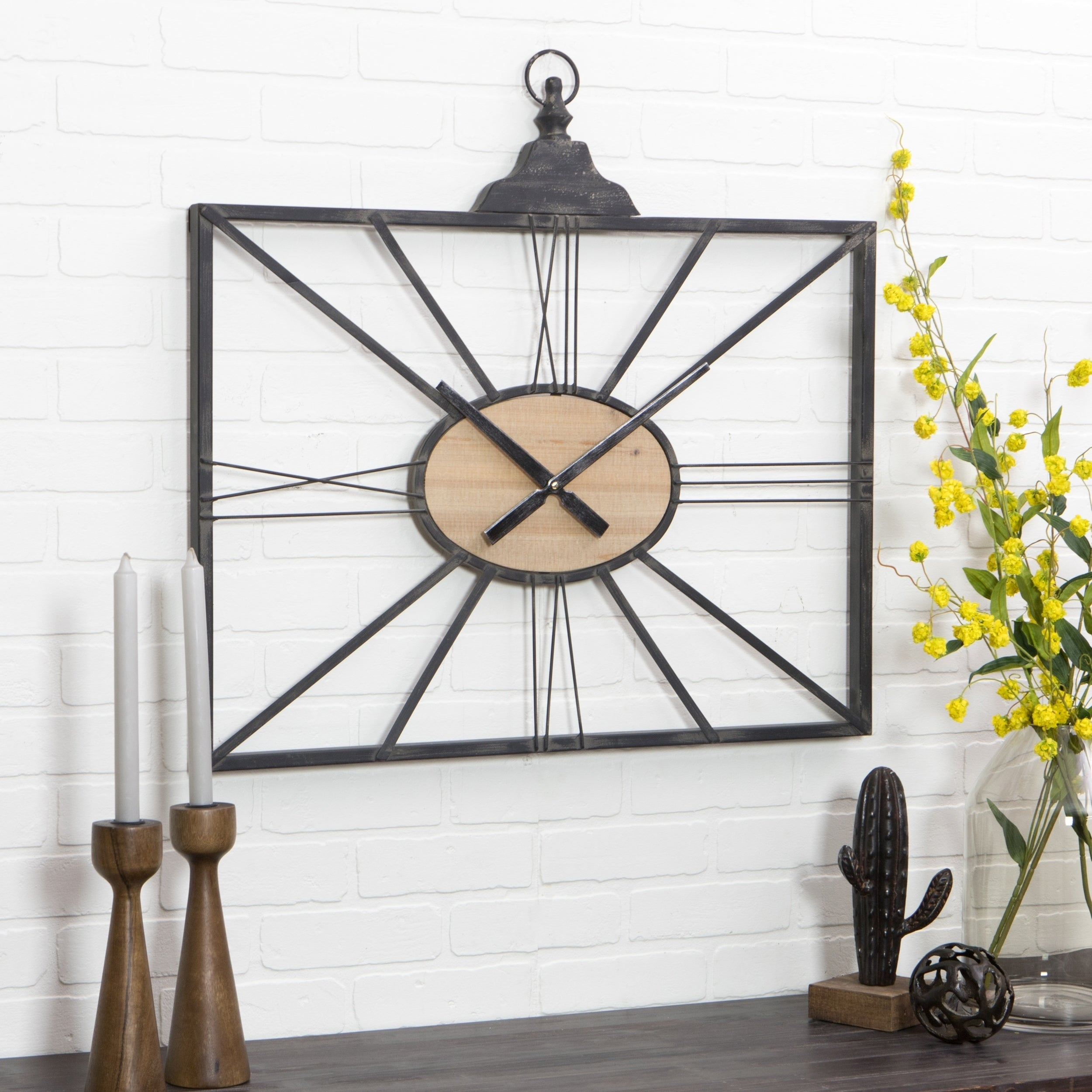 Shop astor mid century wall clock free shipping today overstock com 16303930