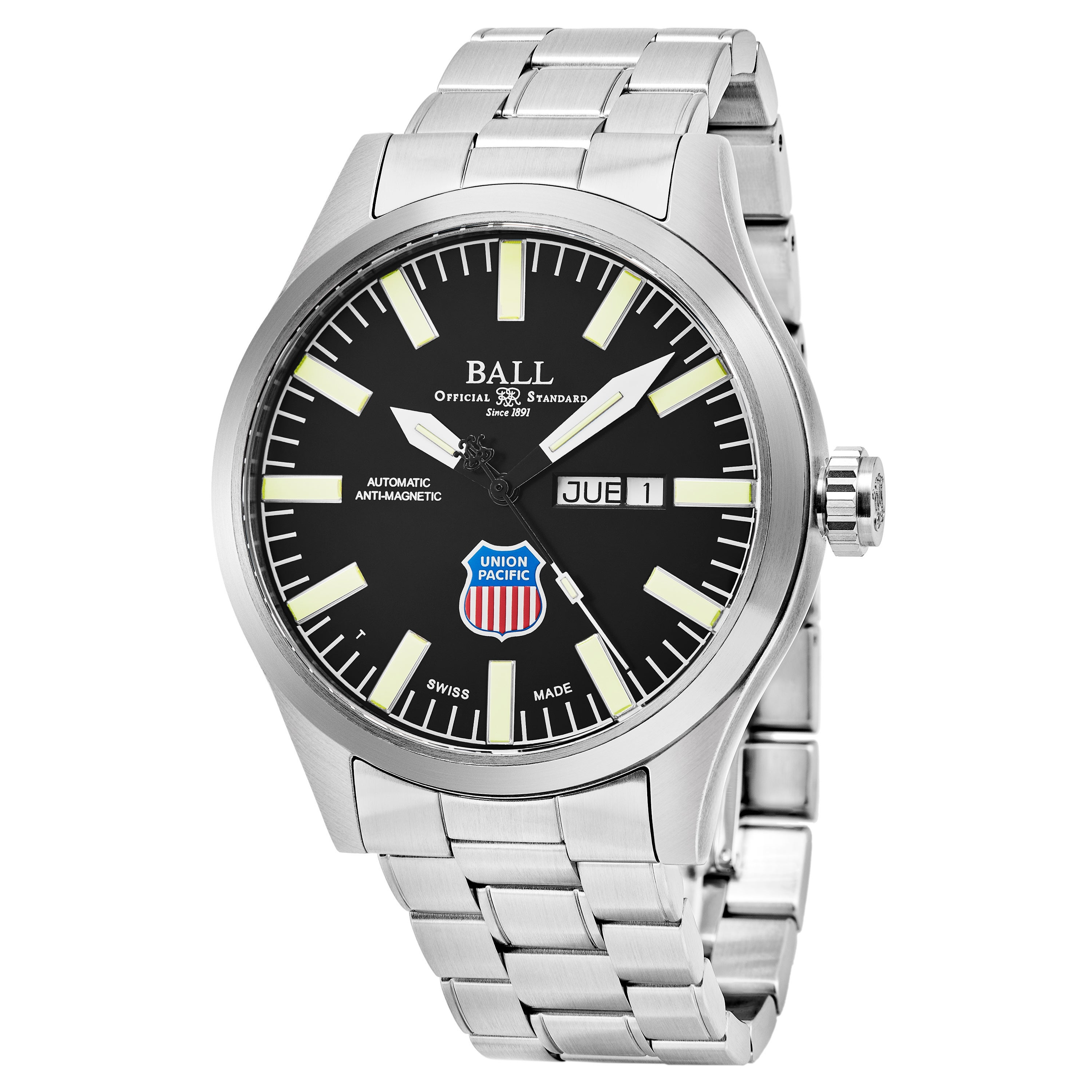 7bbfab72f Shop Ball Men's NM1080C-S2-BK 'Engineer II Big Boy' Black Dial Stainless  Steel Swiss Automatic Watch - Free Shipping Today - Overstock - 16304588