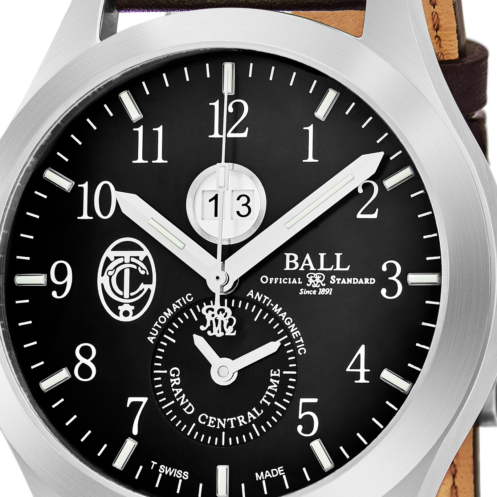 34e10ae44 Shop Ball Men's GM2086C-L2-BK 'Engineer II' Black Dial Brown Leather Strap Limited  Edition GMT Swiss Automatic Watch - Black/brown - Free Shipping Today ...