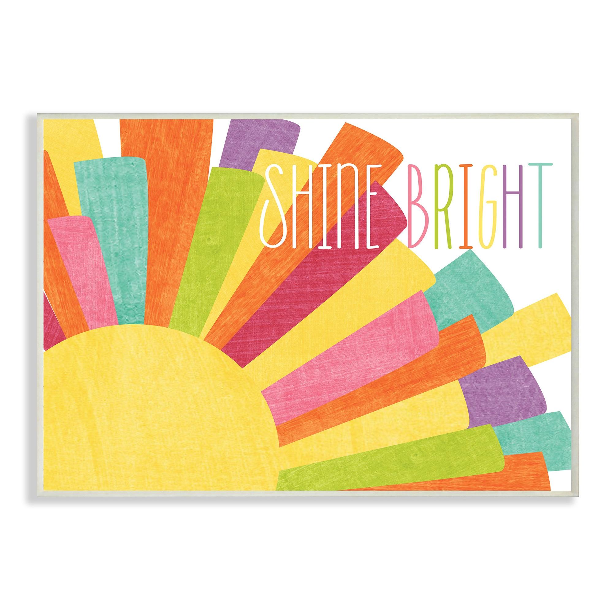 Shine Bright Colorful Sun Illustration Wall Plaque Art - 10 x 15 ...