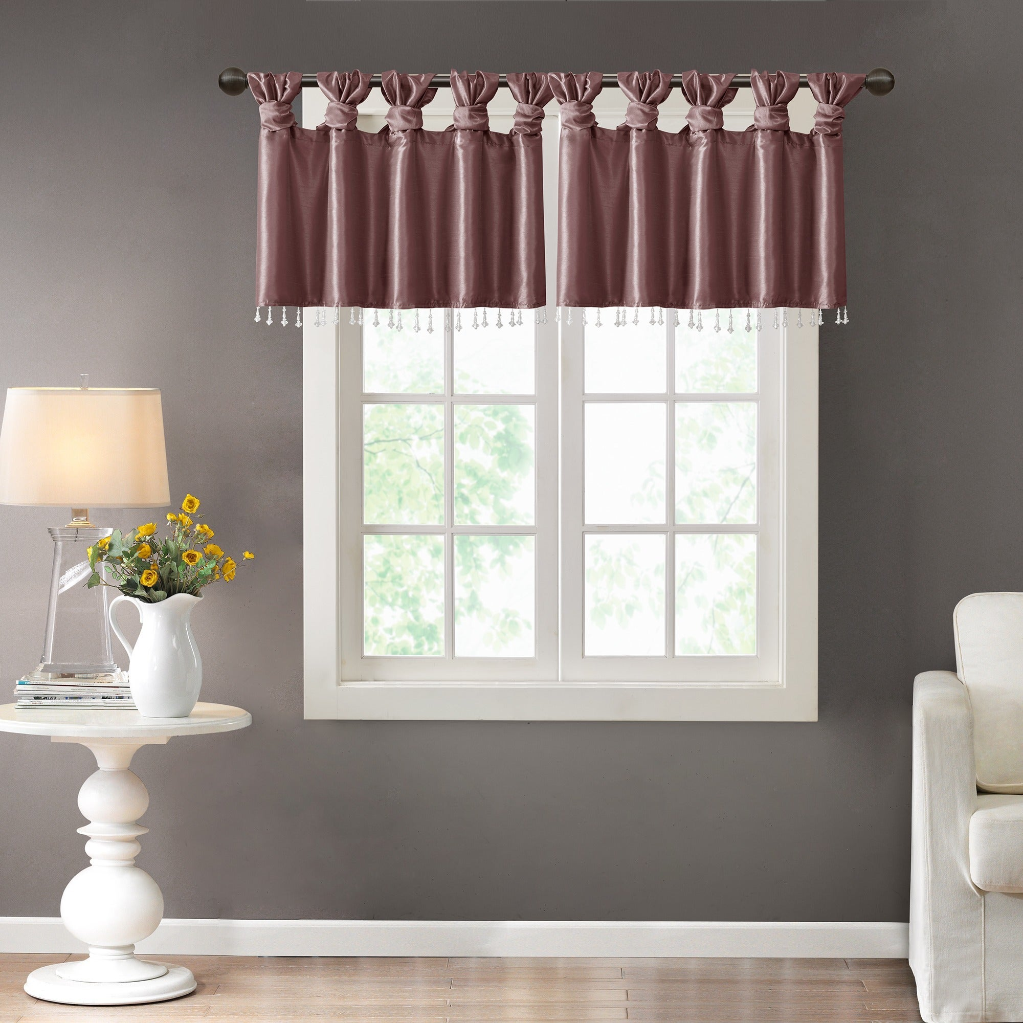 bedrooms for size valance ideas the purple valances white black swag a full mor curtain of bedroom
