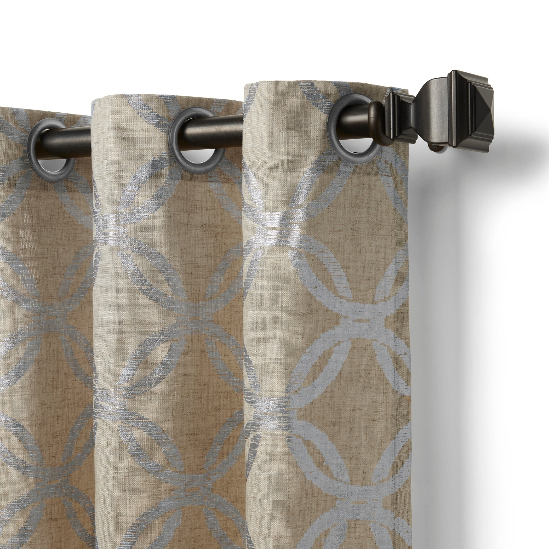 Elrene Zelda Metallic Curtain Panel   Free Shipping On Orders Over $45    Overstock.com   22670324