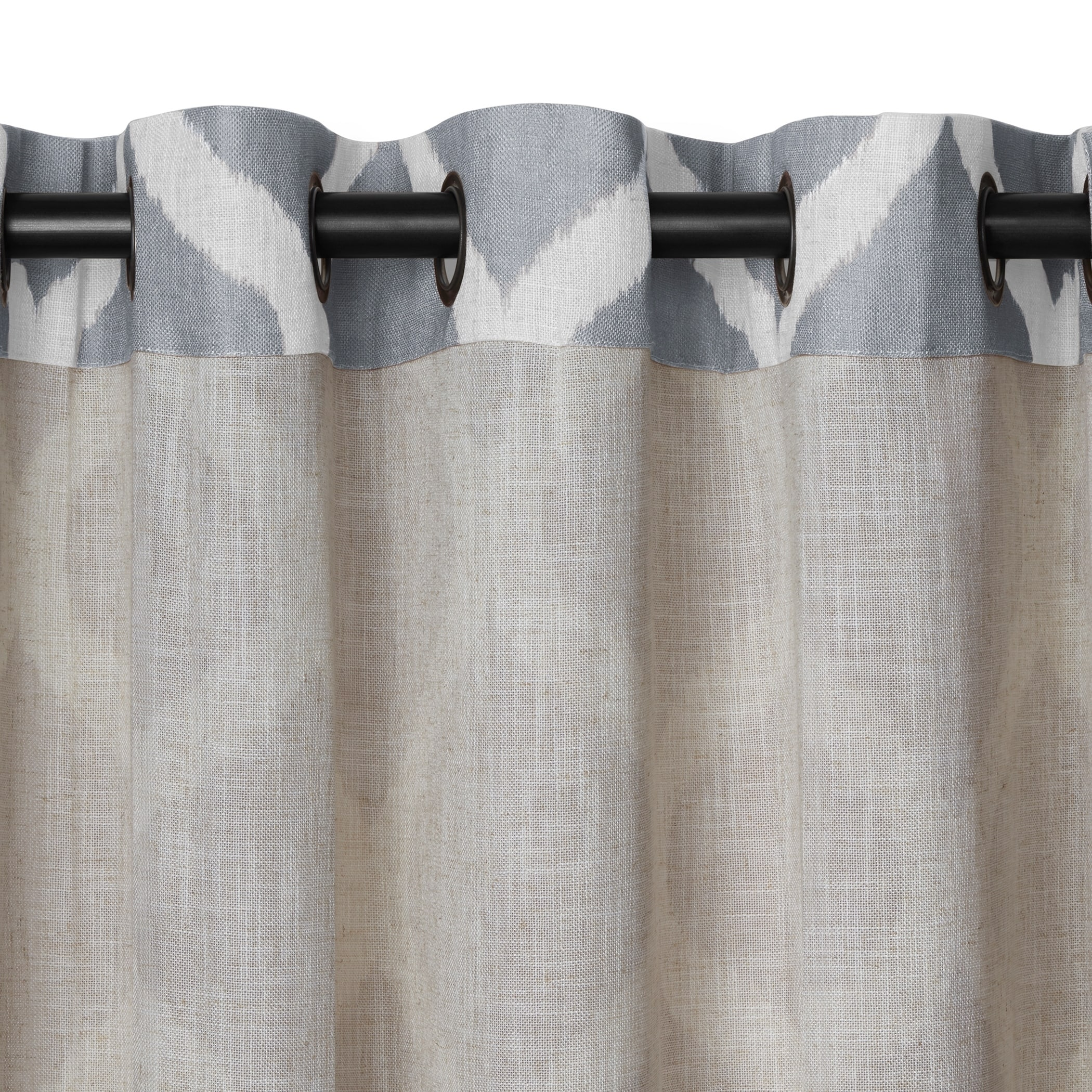 tailored valance x expand gray click dark treatment omega to window p grommet modern