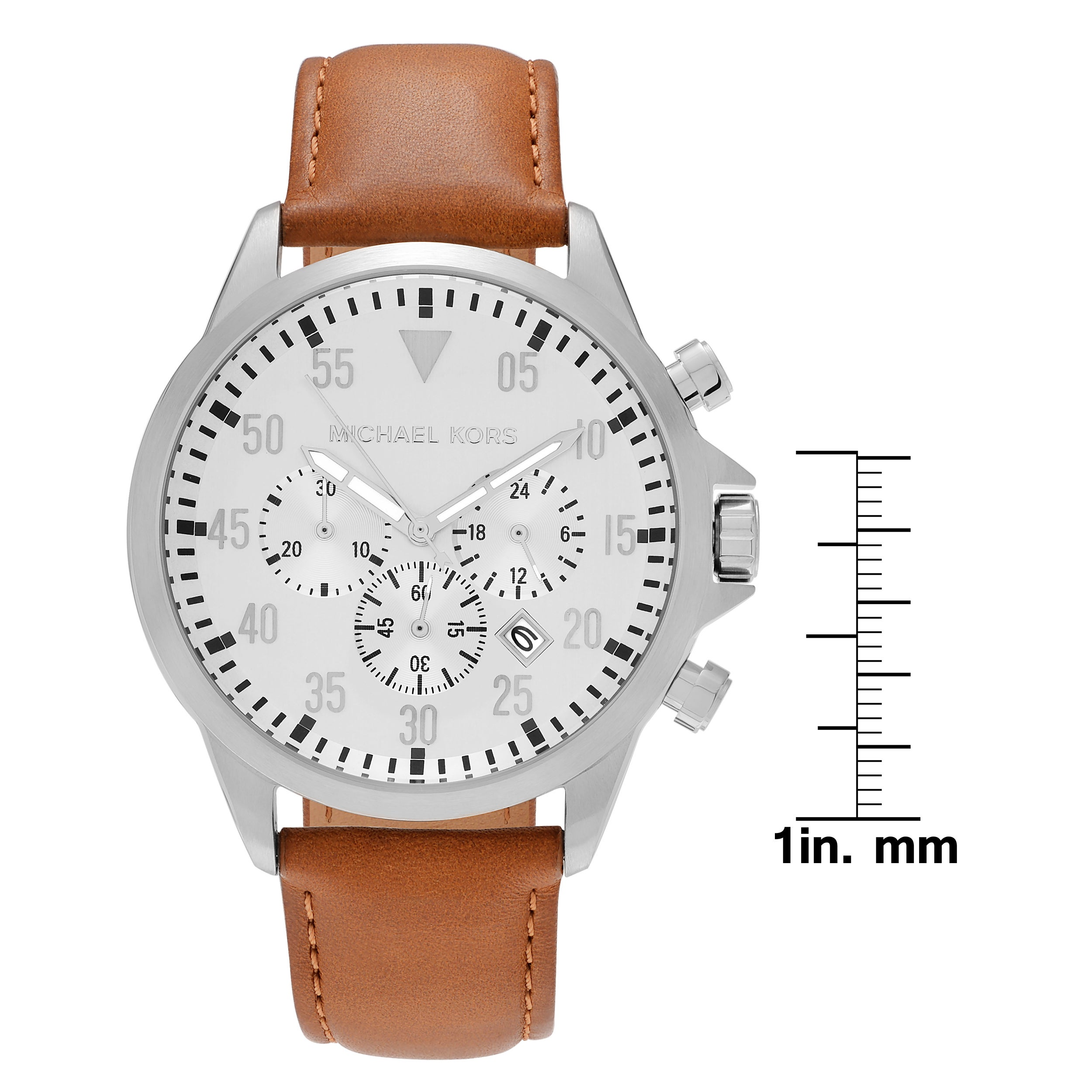 819d13657f38 Shop Michael Kors Men s  Gage  MK8565 Stainless Steel Chronograph Dial Leather  Strap Watch Set - Free Shipping Today - Overstock - 16306253