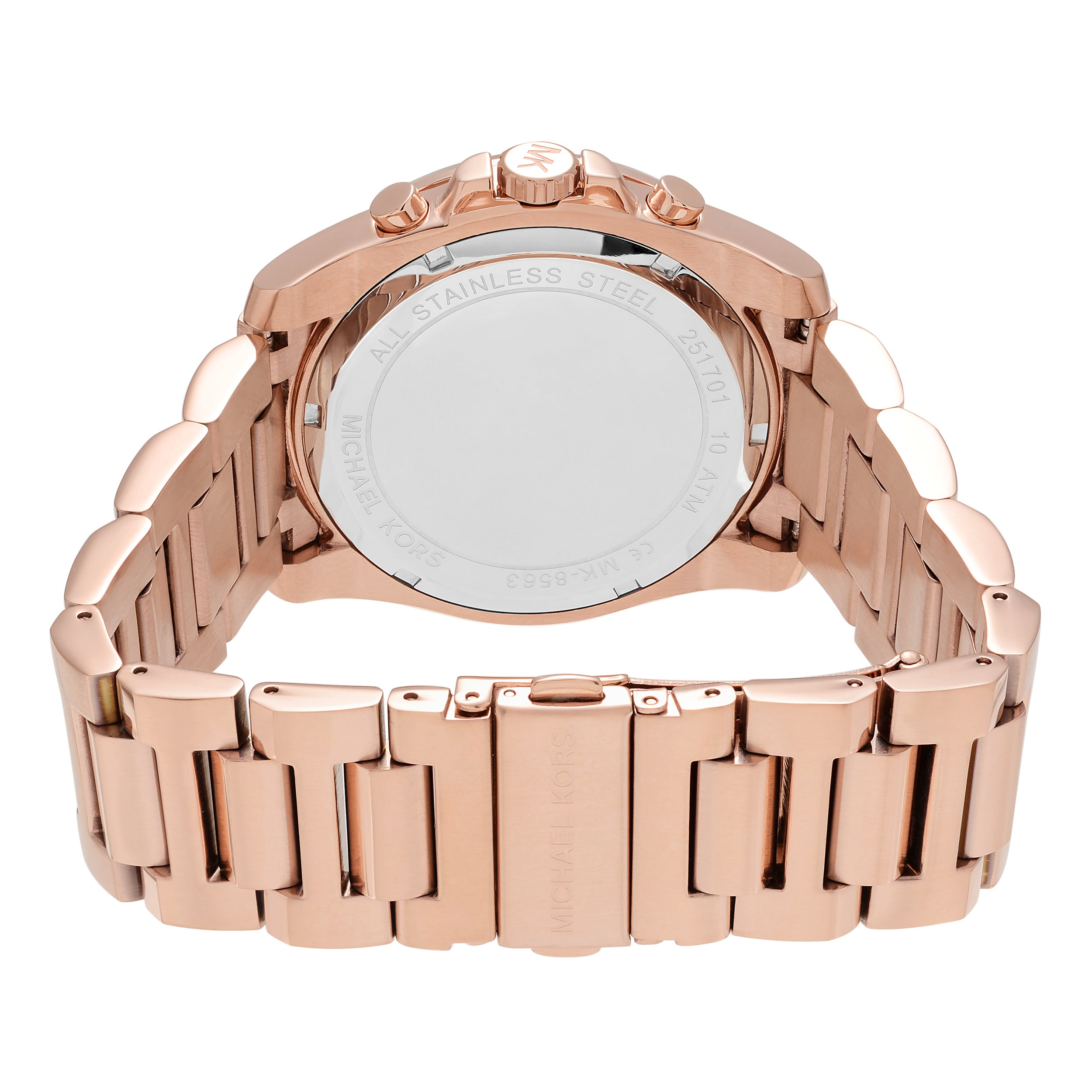 69a8f03fade4 Shop Michael Kors Men s MK8563  Brecken  Rose Goldtone Stainless Steel Chronograph  Dial Link Bracelet Watch - Free Shipping Today - Overstock - 16306255