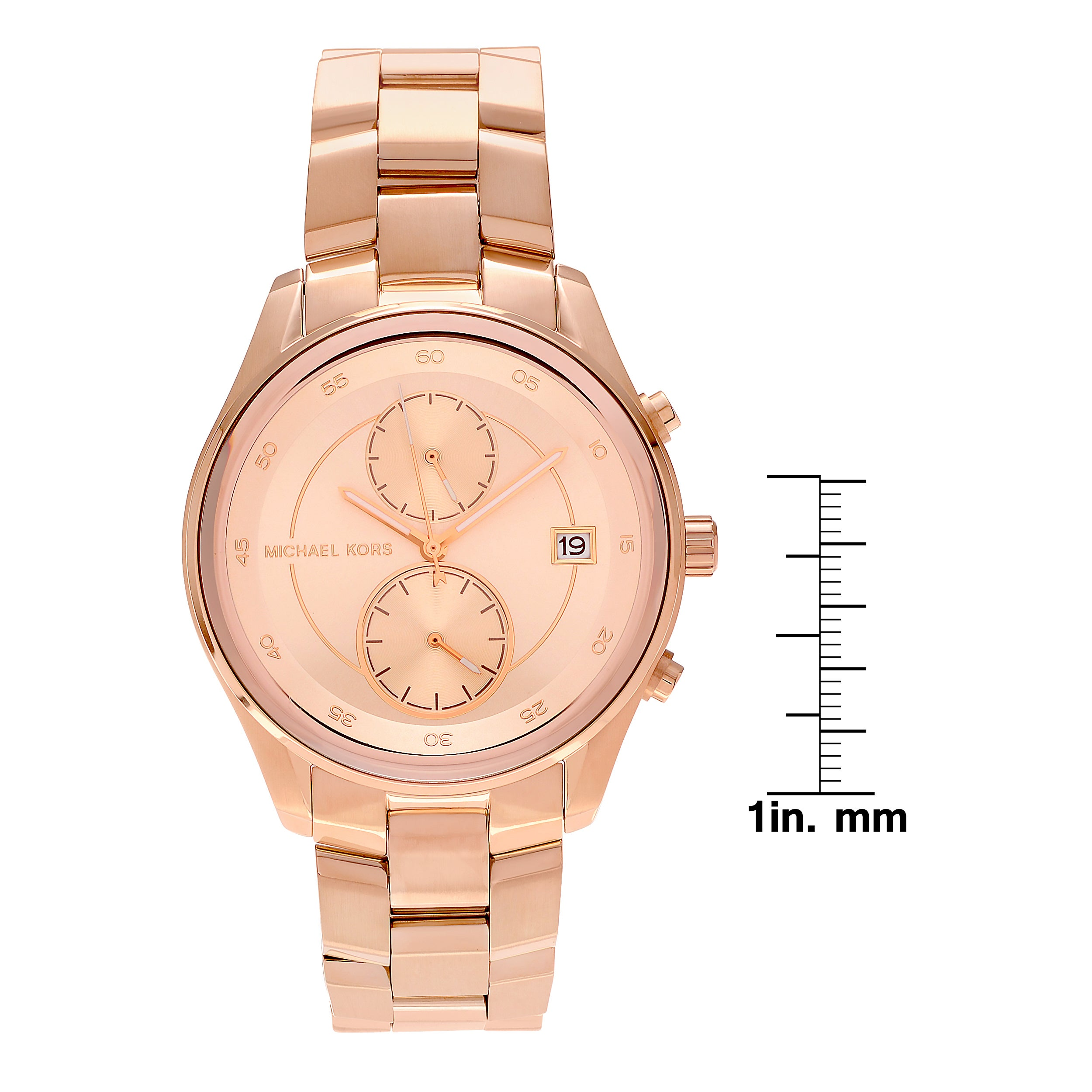daca897f882f Shop Michael Kors Women s MK6465  Briar  Rose Goldtone Stainless Steel  Multifunction Link Bracelet Watch - Free Shipping Today - Overstock -  16306358