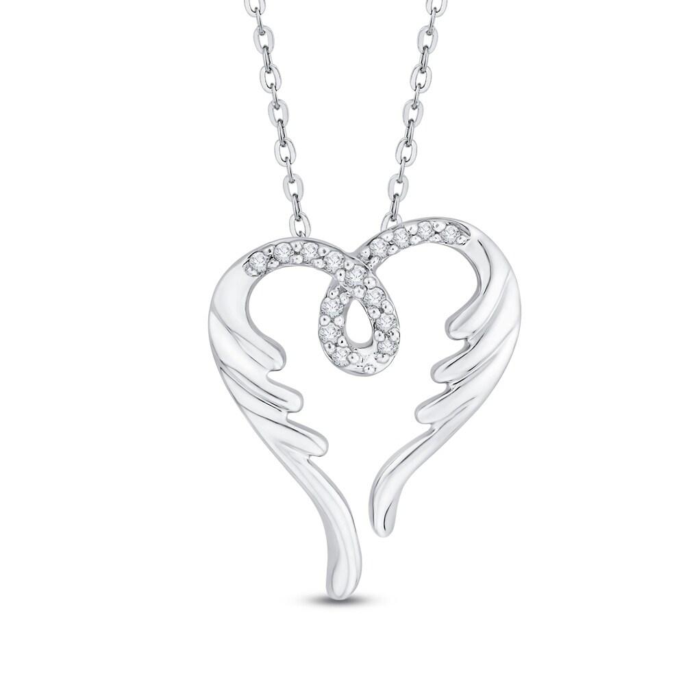 Shop 10k white gold angel wings diamond heart pendant on sale shop 10k white gold angel wings diamond heart pendant on sale free shipping today overstock 16315163 aloadofball Image collections