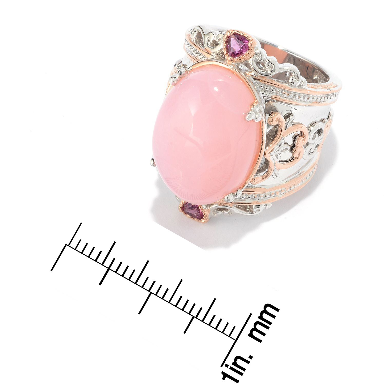 Shop Michael Valitutti Palladium Silver Pink Peruvian Opal ...