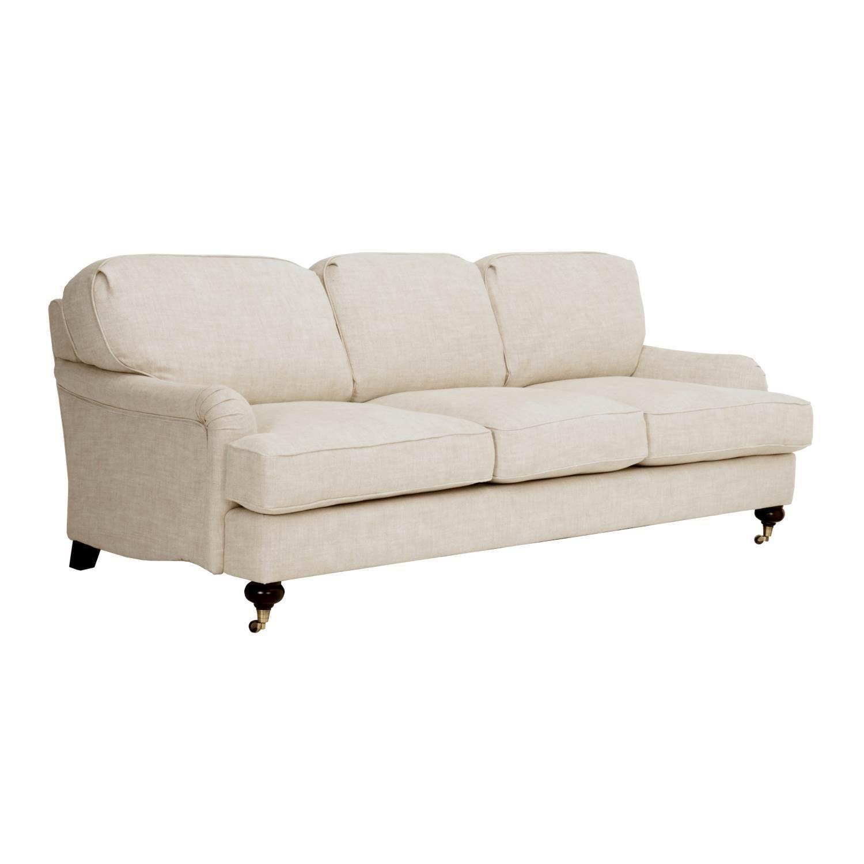 Shop citation natural linen sofa free shipping today overstock com 16315525