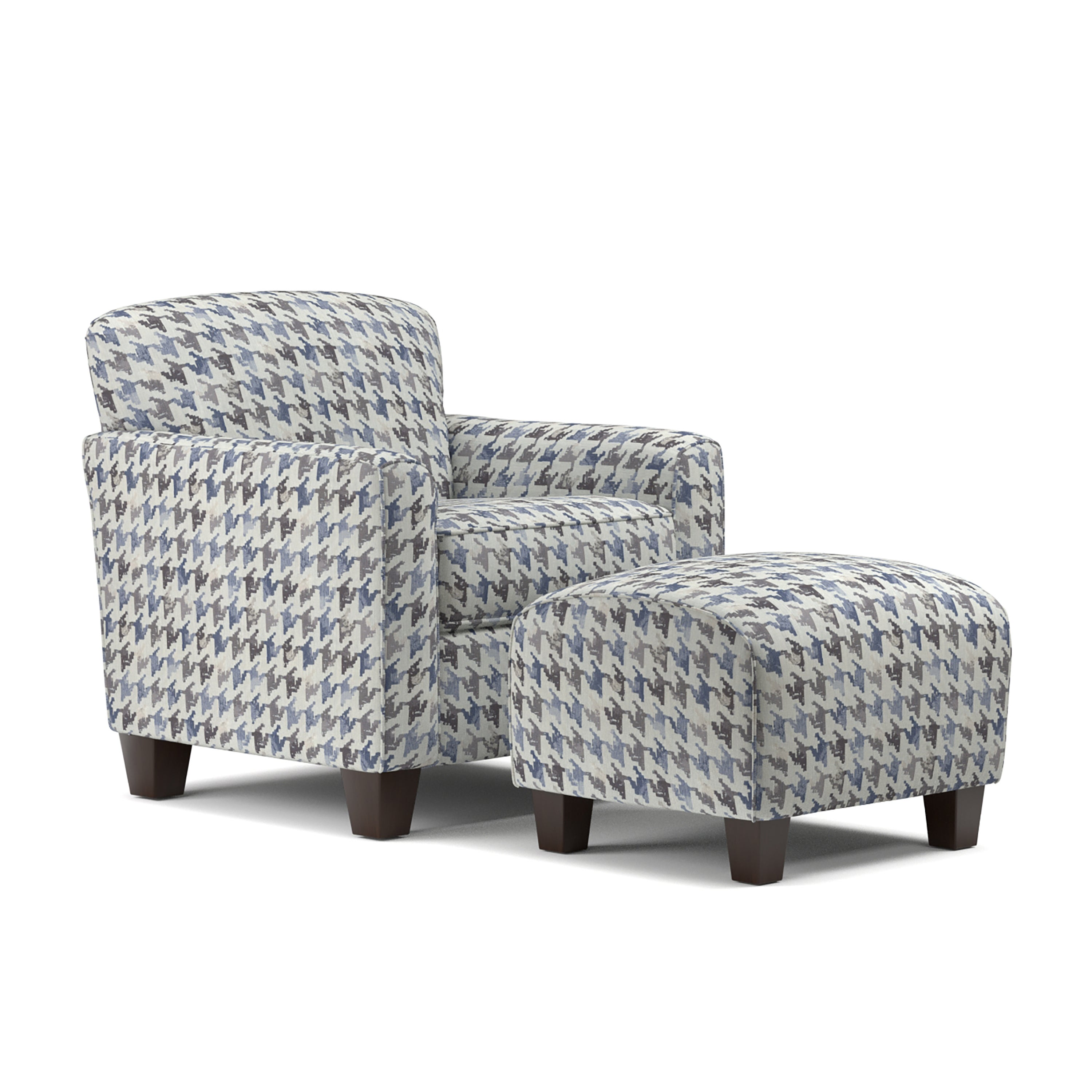 upholstered chairs mocha room cafe living signature with set ottoman contemporary legs sofa overstock ottomans and darcy chair design tapered by warehouse blue