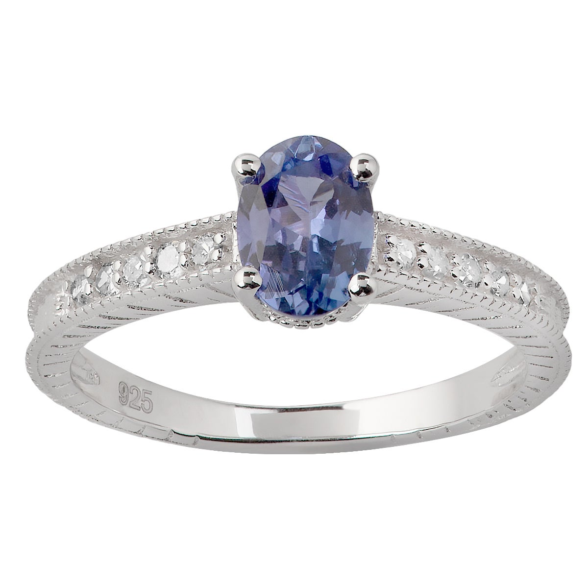 bezel ring in il rings engagement solitaire round listing zoom fullxfull tanzanite half