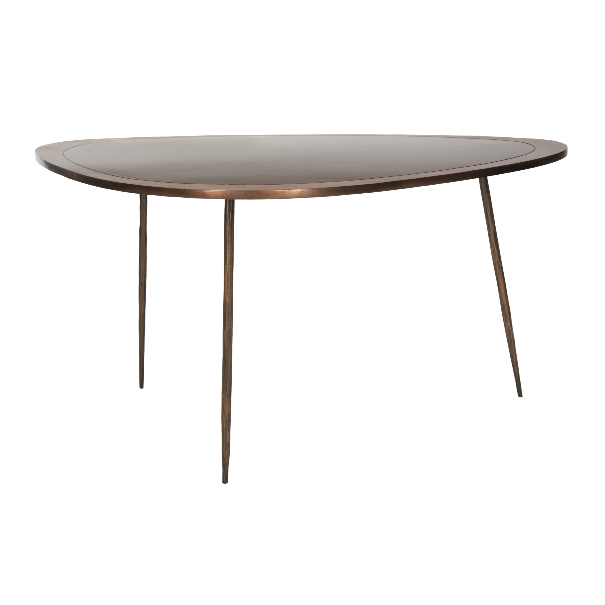 Shop Safavieh Ayla Antique Copper Coffee Table On Sale Free