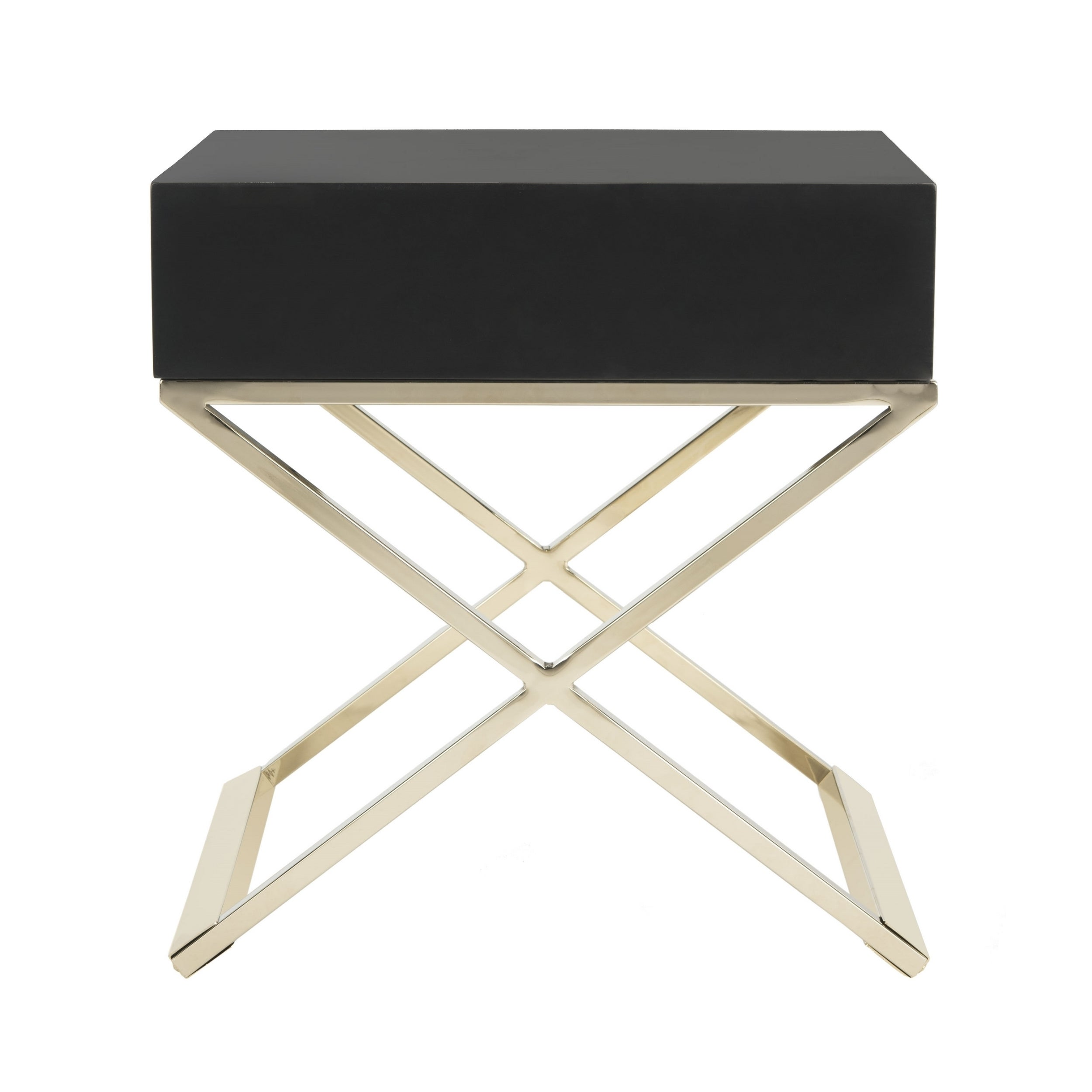 Safavieh Zarina Modern Cross Leg Black End Table/ Night Stand   Free  Shipping Today   Overstock   22687159
