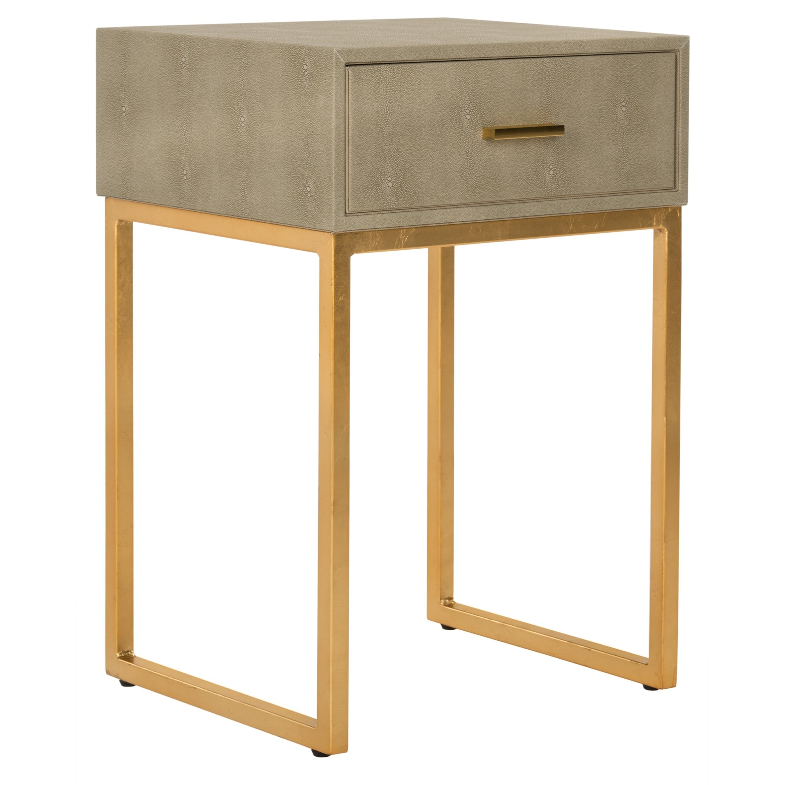 Shop Safavieh Mori Shagreen Modern Light Taupe Side Table   On Sale   Free  Shipping Today   Overstock.com   16324626