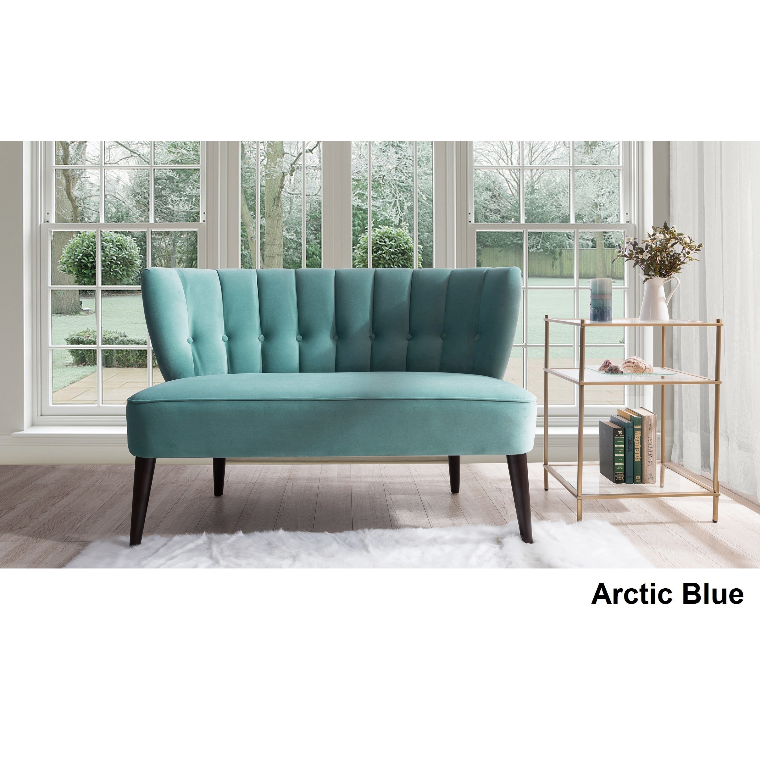 Shop Jennifer Taylor Becca Tufted Settee - On Sale - Free Shipping ...
