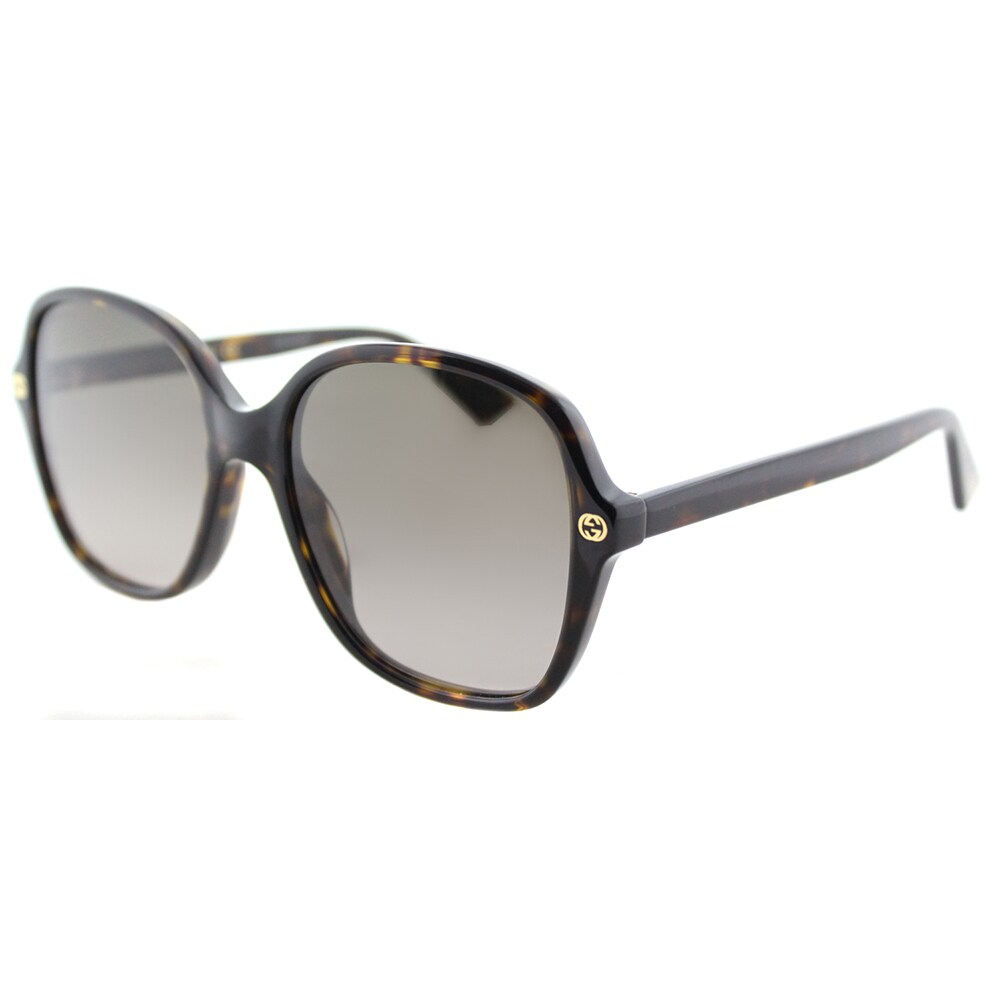 c67e6e7f70d Shop Gucci GG 0092S 002 Havana Plastic Square Sunglasses Brown Gradient  Lens - Free Shipping Today - Overstock - 16339923