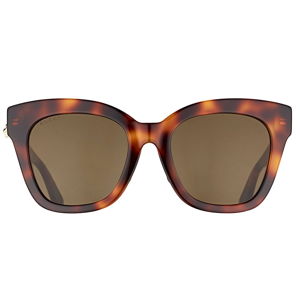 0e48c5df2b Shop Gucci GG 0029S 002 Shiny Dark Havana Plastic Cat-Eye Sunglasses Brown  Lens - Free Shipping Today - Overstock - 16339930