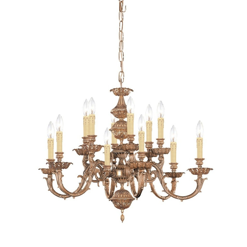 Shop Crystorama Oxford Collection 12 light Olde Brass