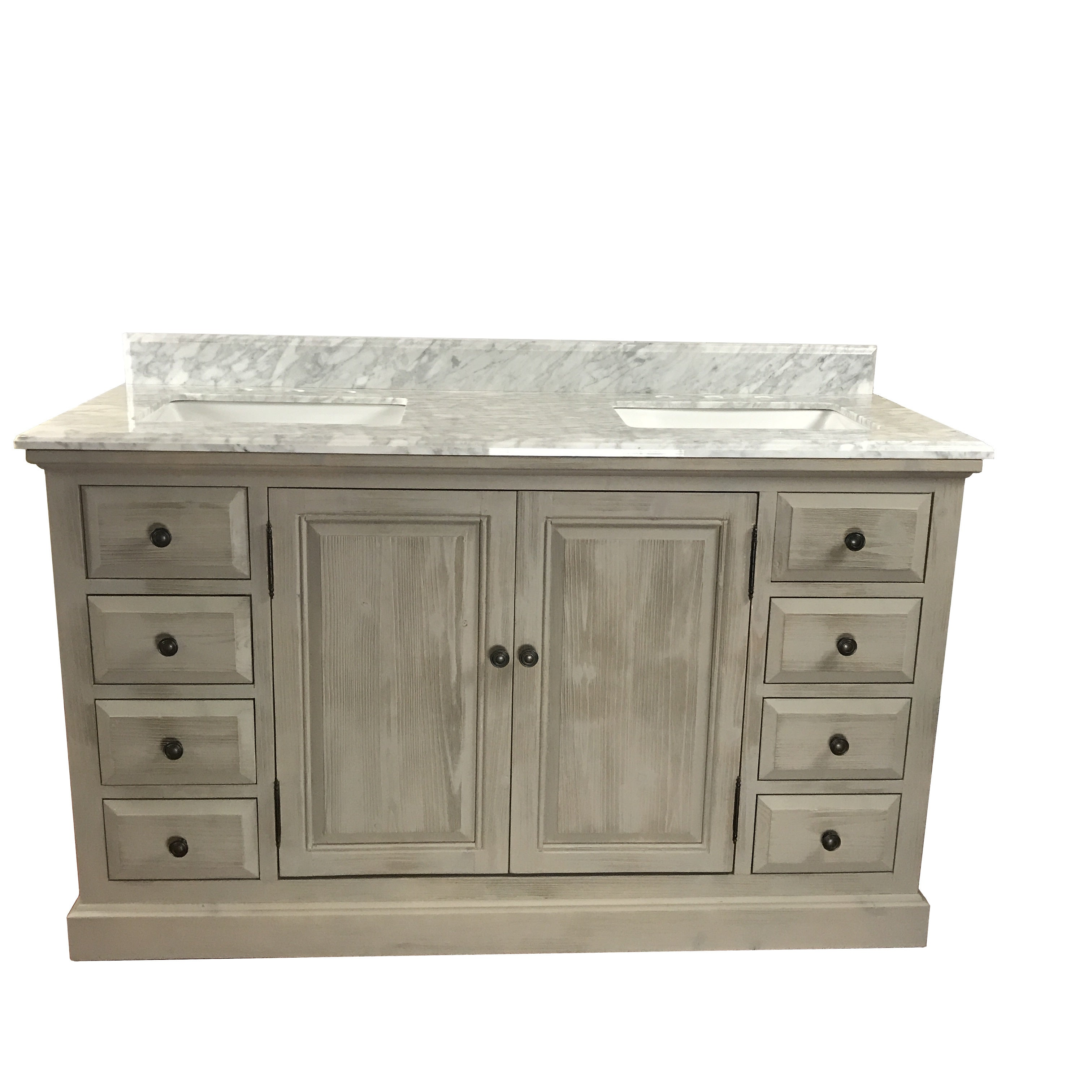 Remarkable Carrera White Mable Top 60 Inch Single Sink Bathroom Vanity Interior Design Ideas Gentotryabchikinfo