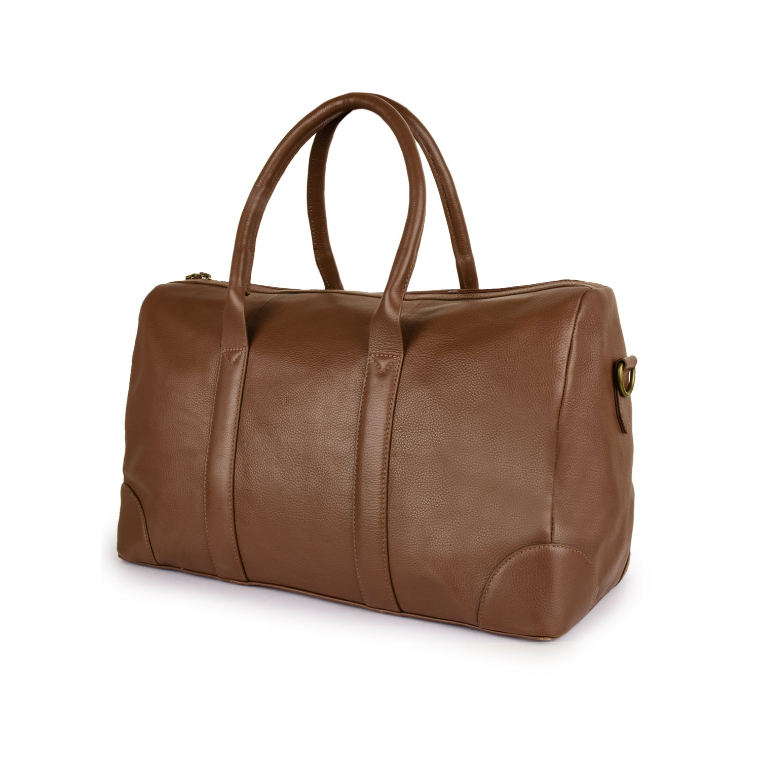acad2855a Handmade Phive Rivers Men's Leather Travel Duffel Bag (Tan) (Italy)