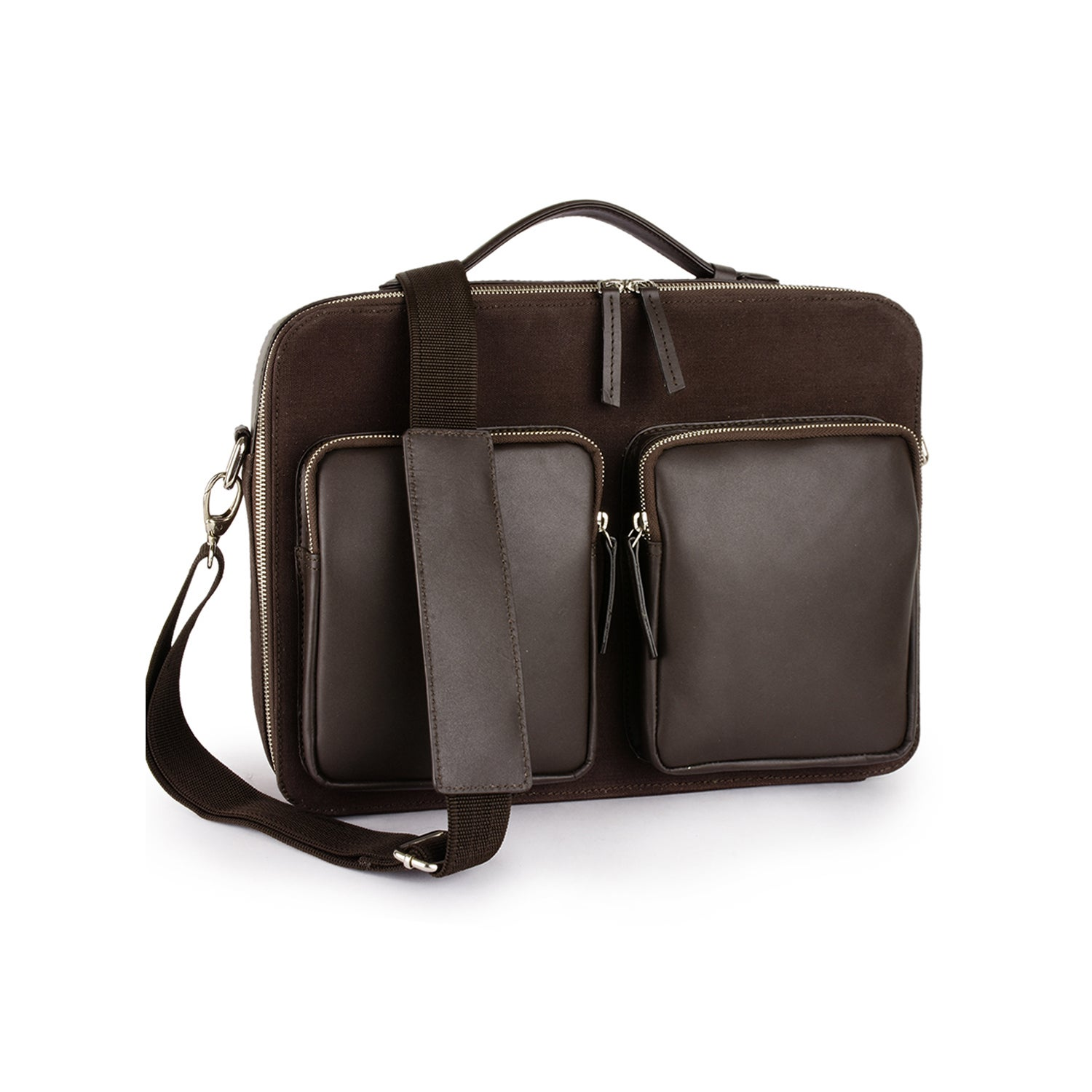 Handmade Phive Rivers Men S Canvas Messenger Bag Brown Italy Free Shipping Today 22702693