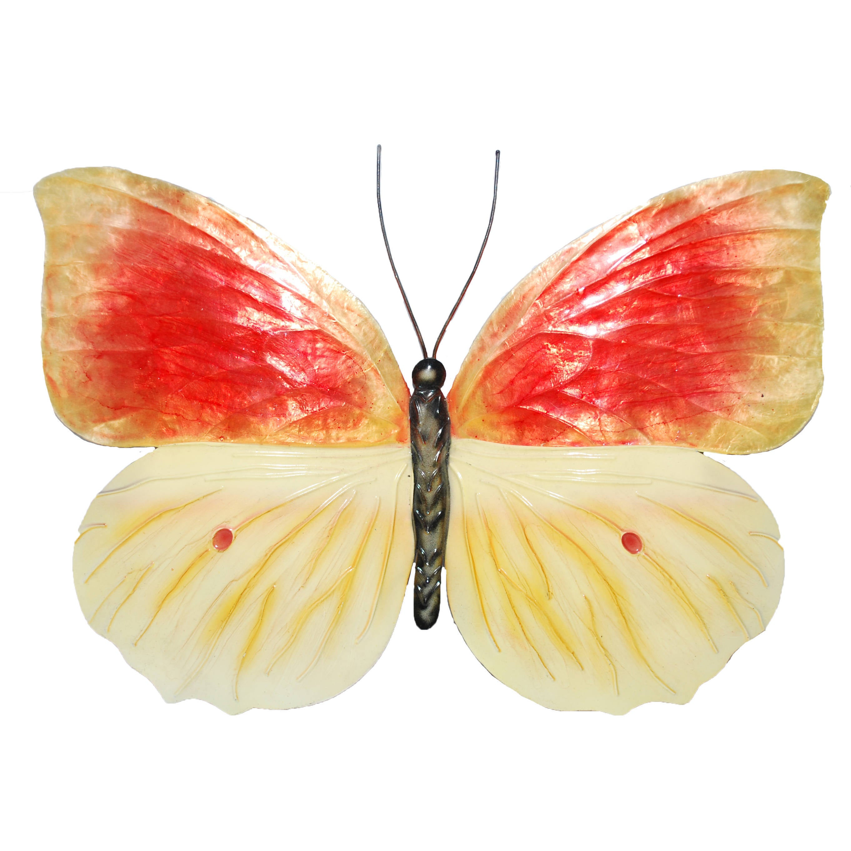 Orange And Yellow Butterfly Wall Decor - Free Shipping On Orders ...
