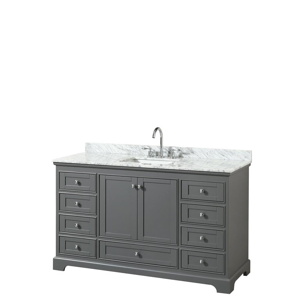 Shop Wyndham Collection Deborah 60-inch Single Bathroom Vanity with ...