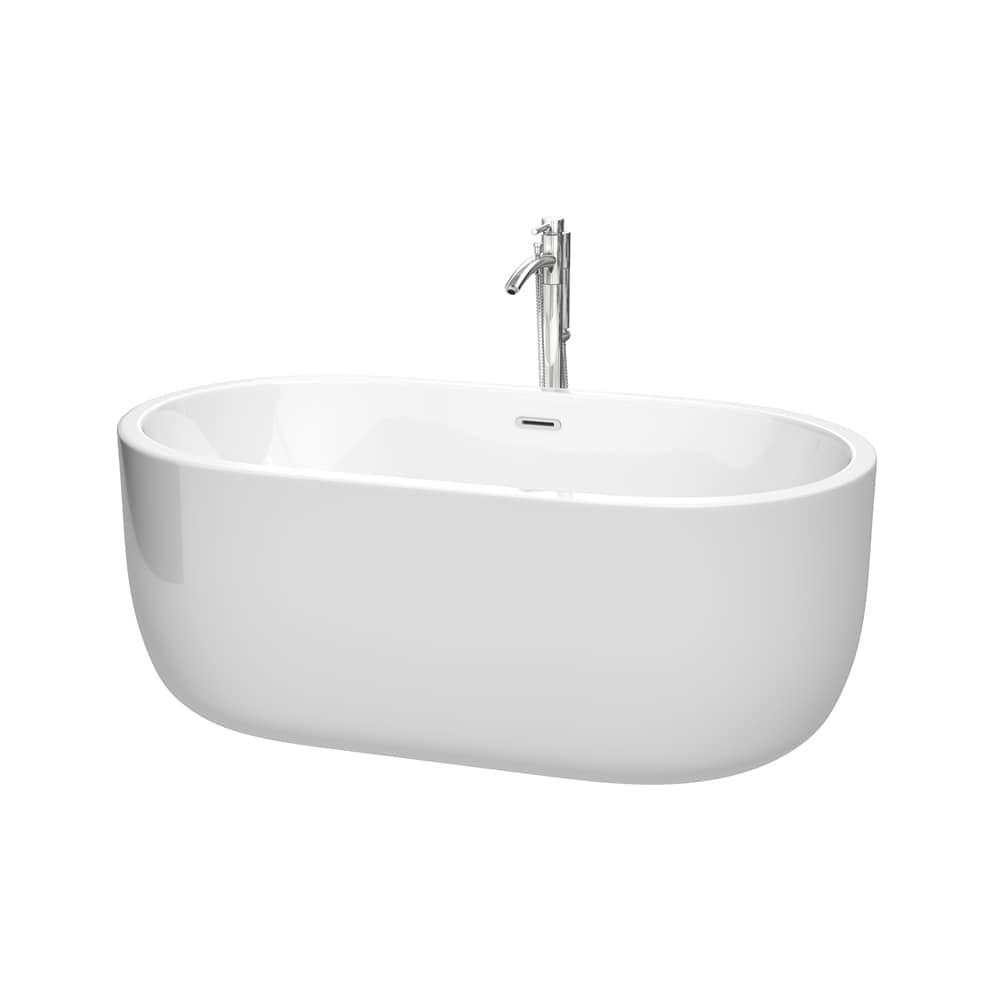 Shop Wyndham Collection Juliette 60-inch Freestanding Bathtub in ...