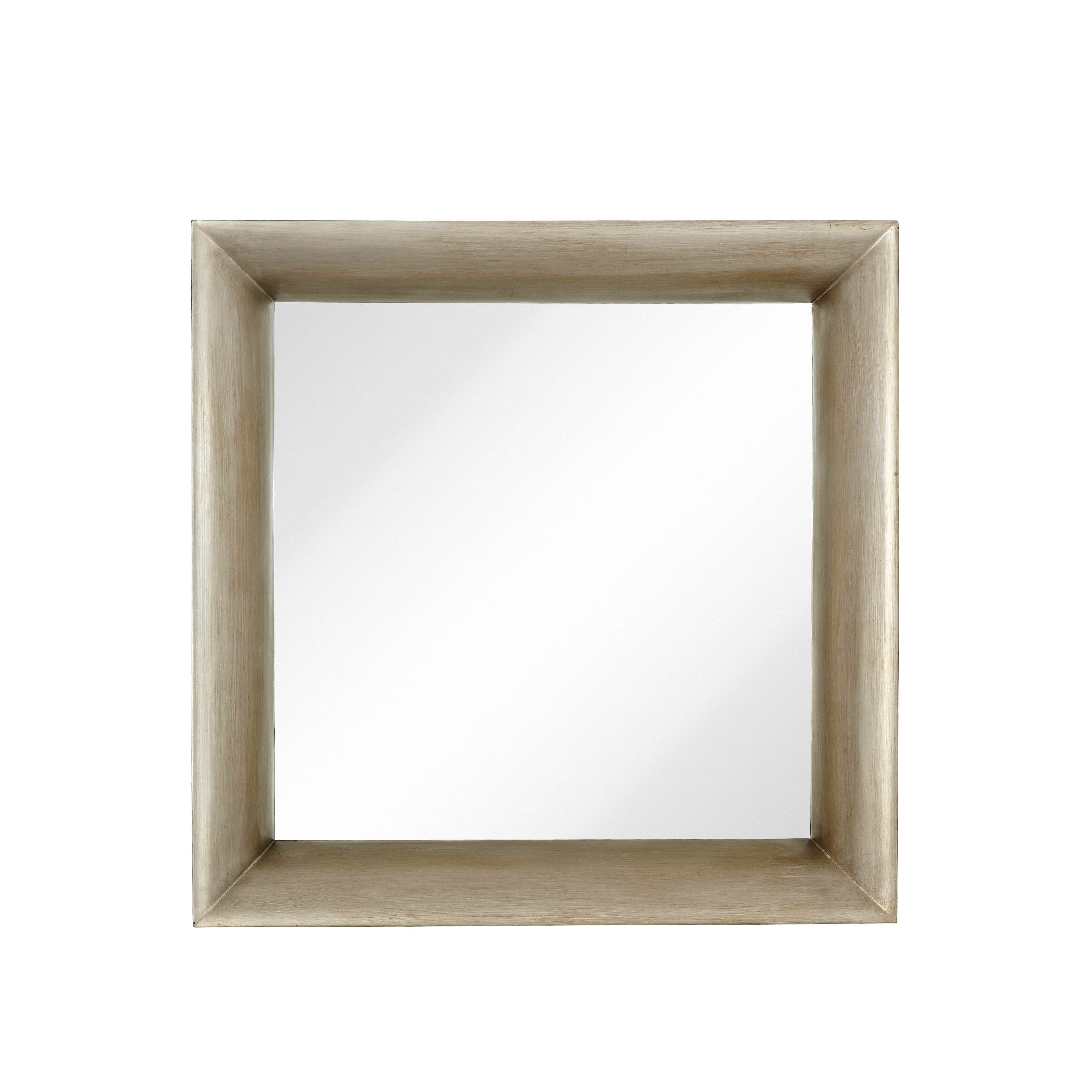 cffab81c2011 Shop Majestic Modernist Mirror with Dimensional Antique Silver Leaf Frame -  Free Shipping Today - Overstock - 16342545