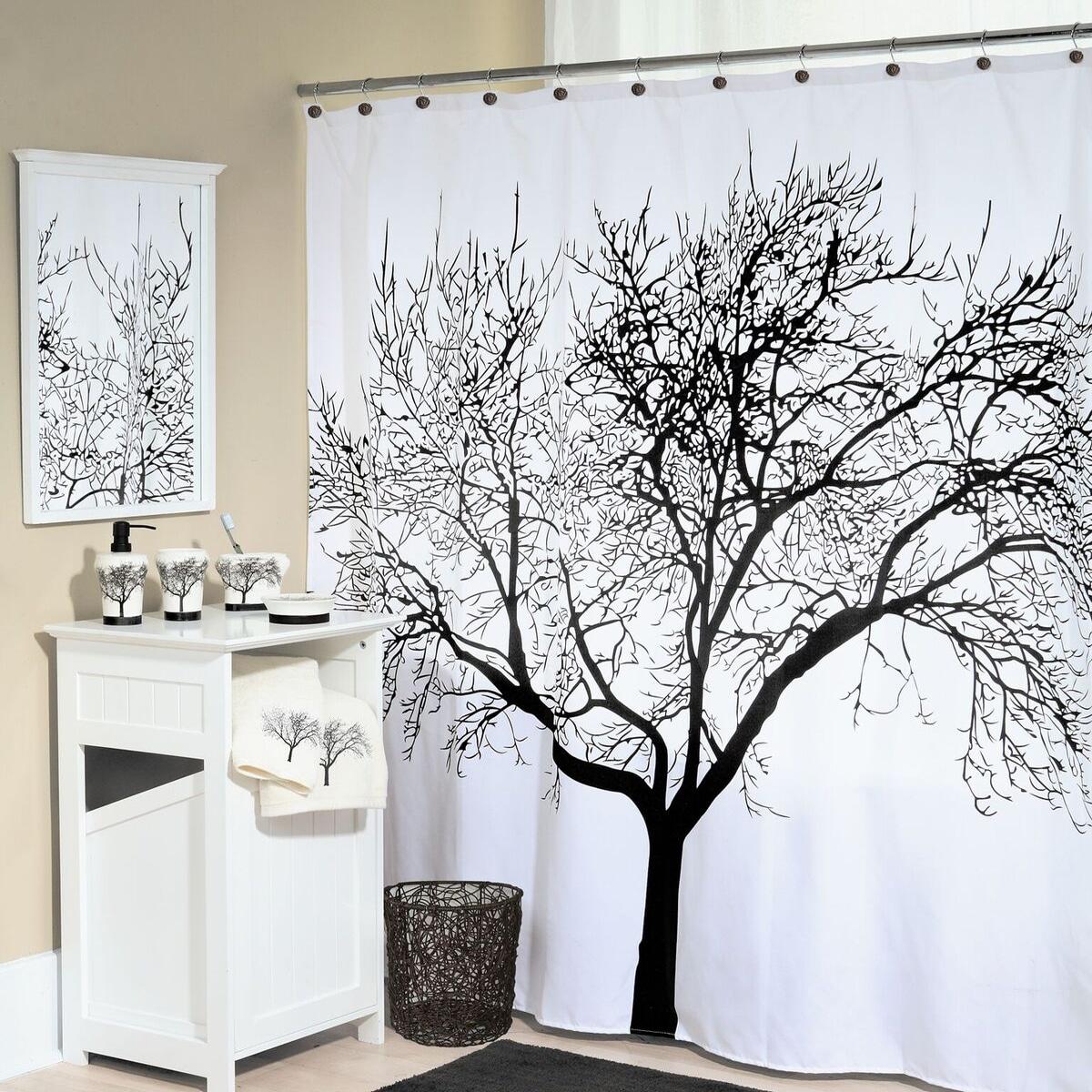 Tree Fabric Shower Curtain 70x72