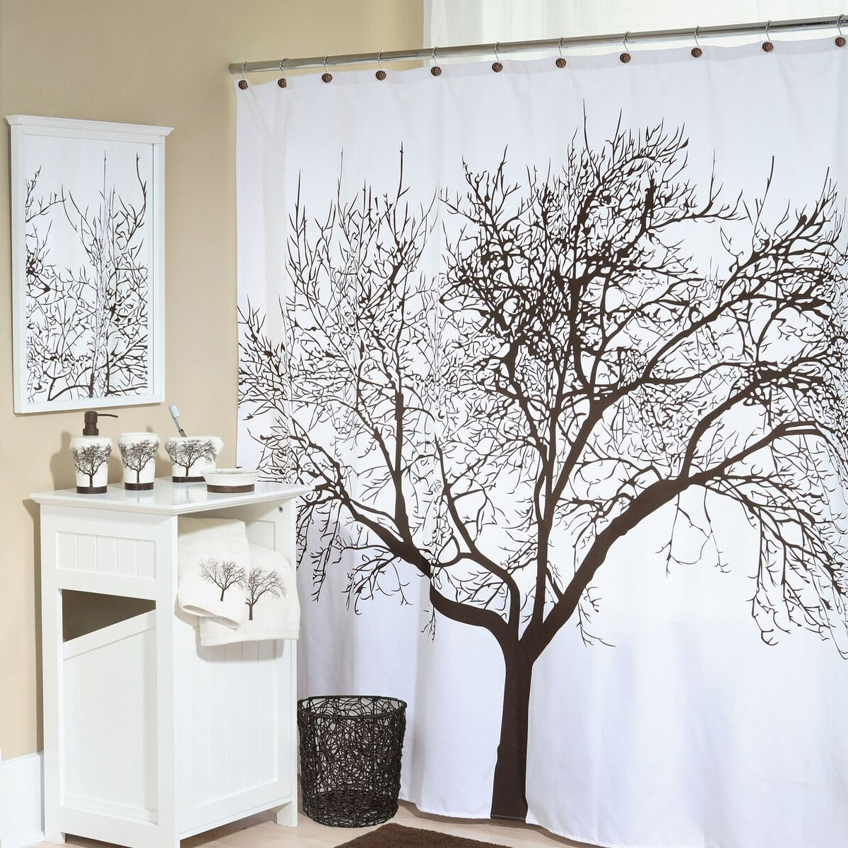 Shop Tree Fabric Shower Curtain (70\