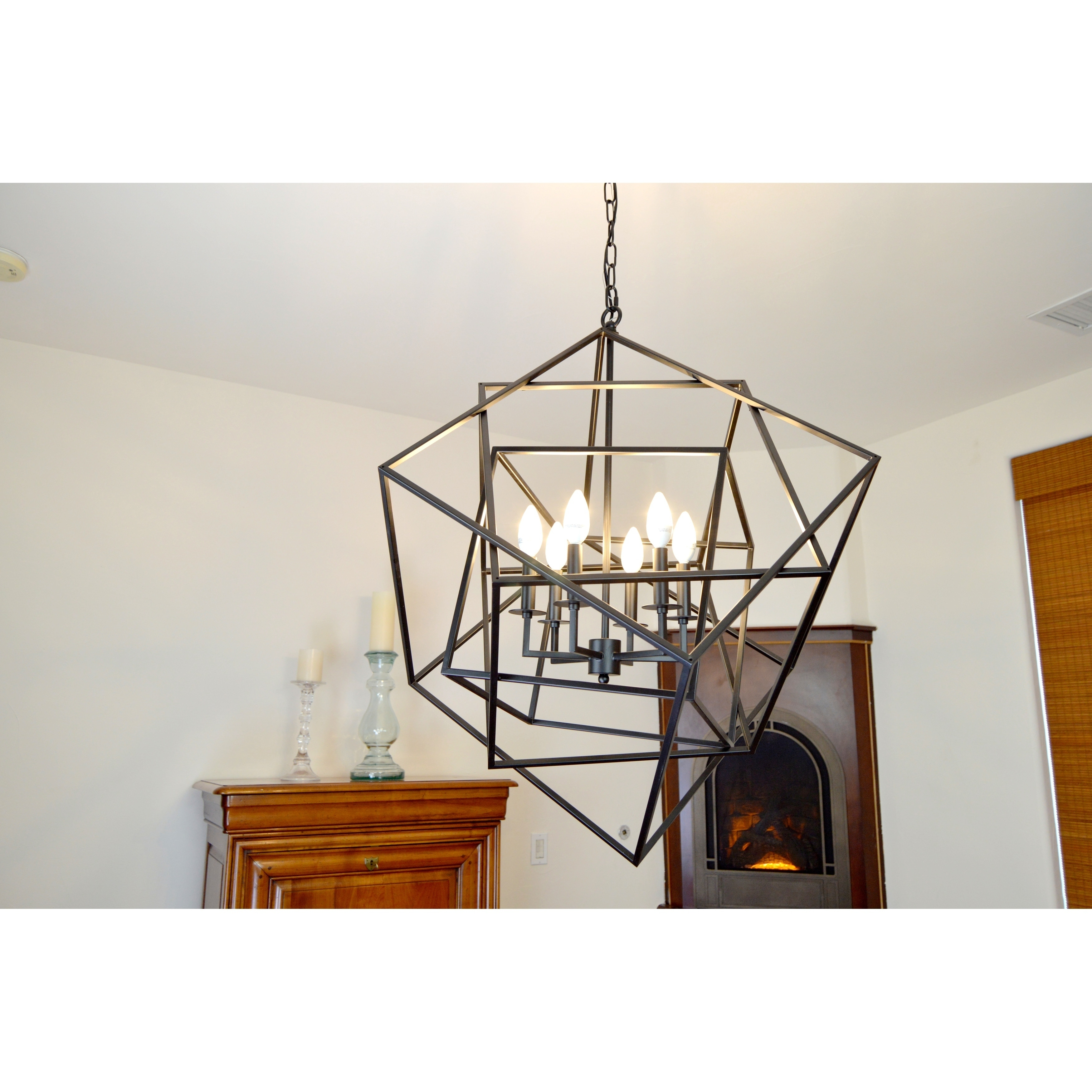 chandelier shipping in y garden home light free today overstock product electrified black urchin decor