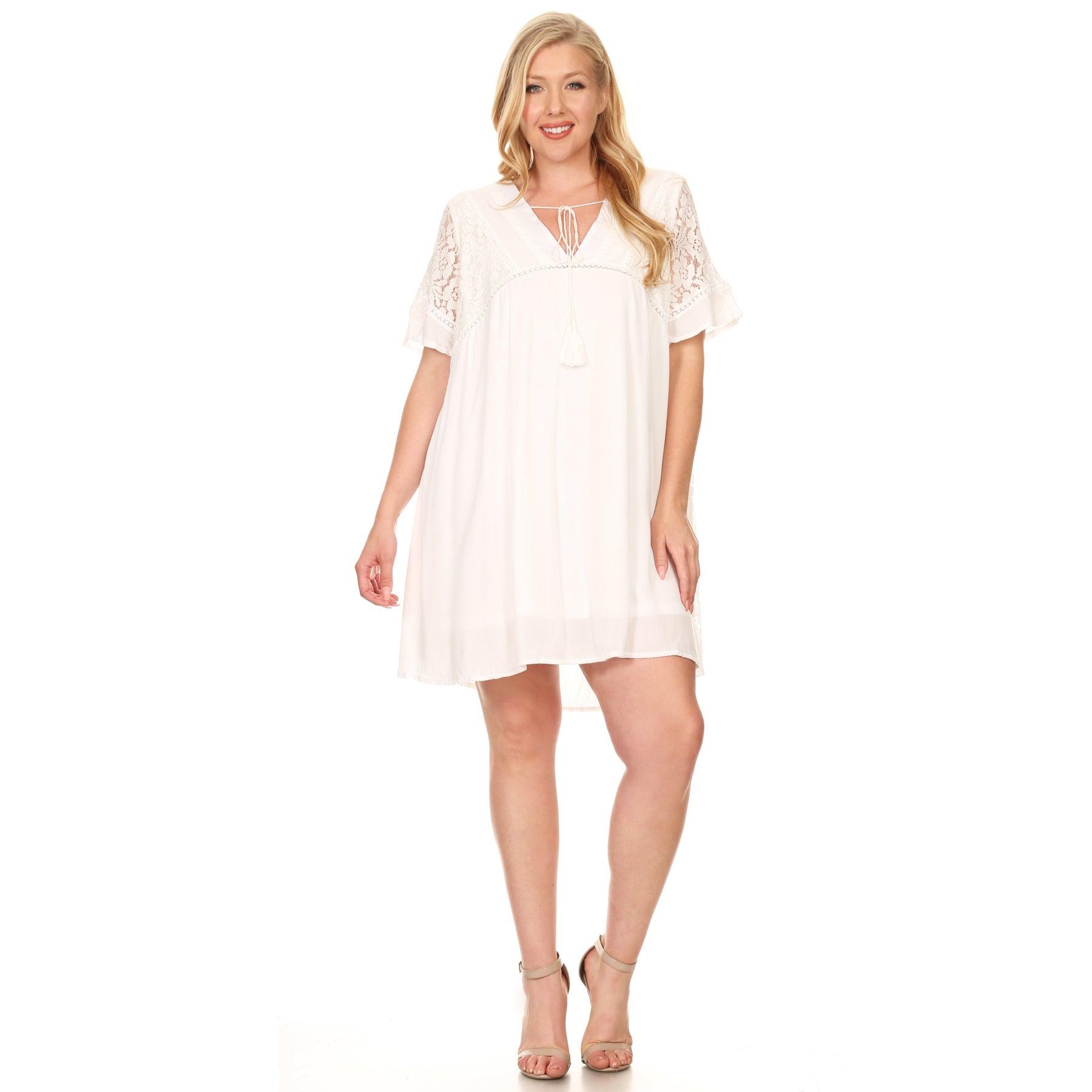 8ab4bbd0f9 Lace Shift Dress Plus Size