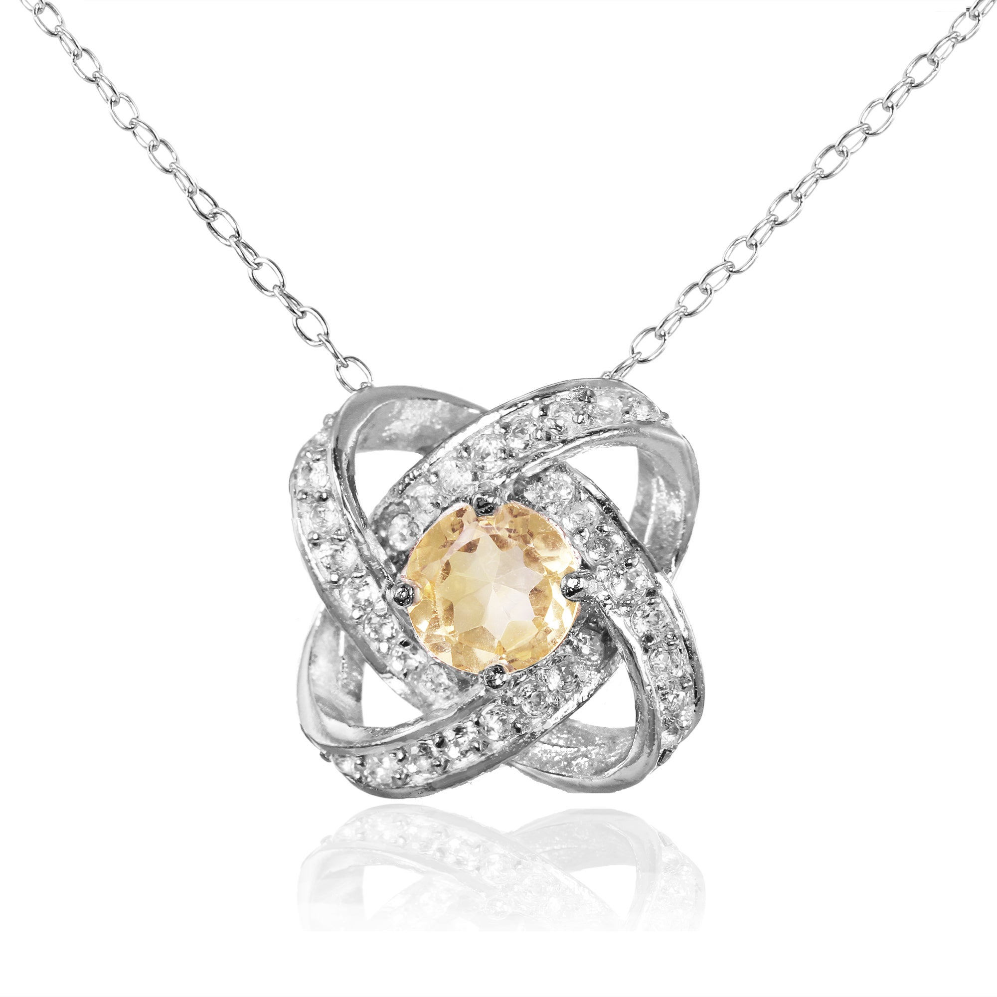 products knot necklace handmade yellow gold diamond in trinity