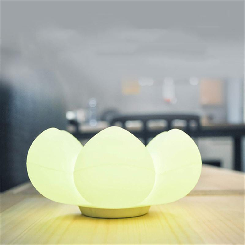 Flower Storage Led Table Lamp Silicone Touch Control Bedside Light Decoration Color Random