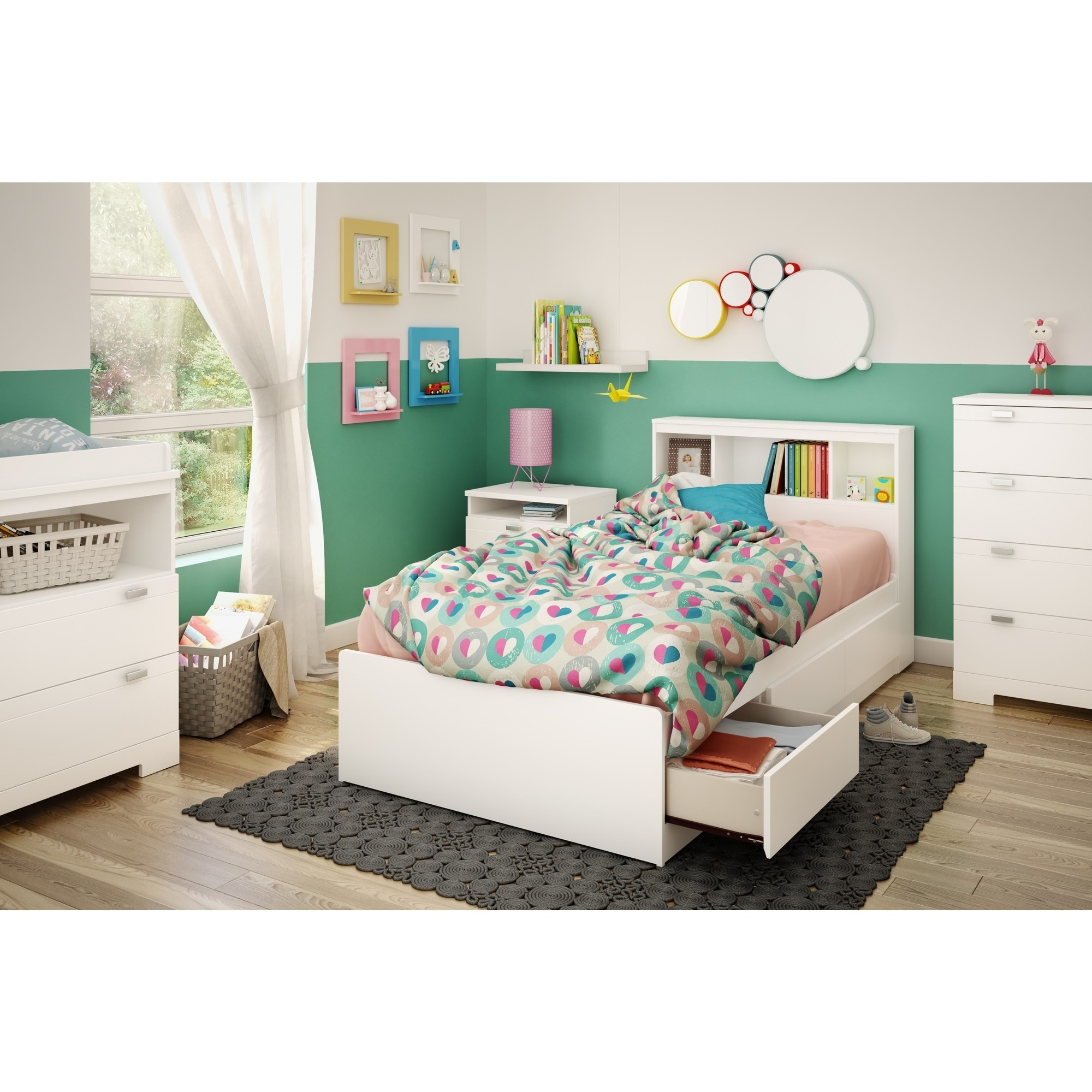 queen bookcase coaster briana number item storage bookcases bed with bookshelf products contemporary