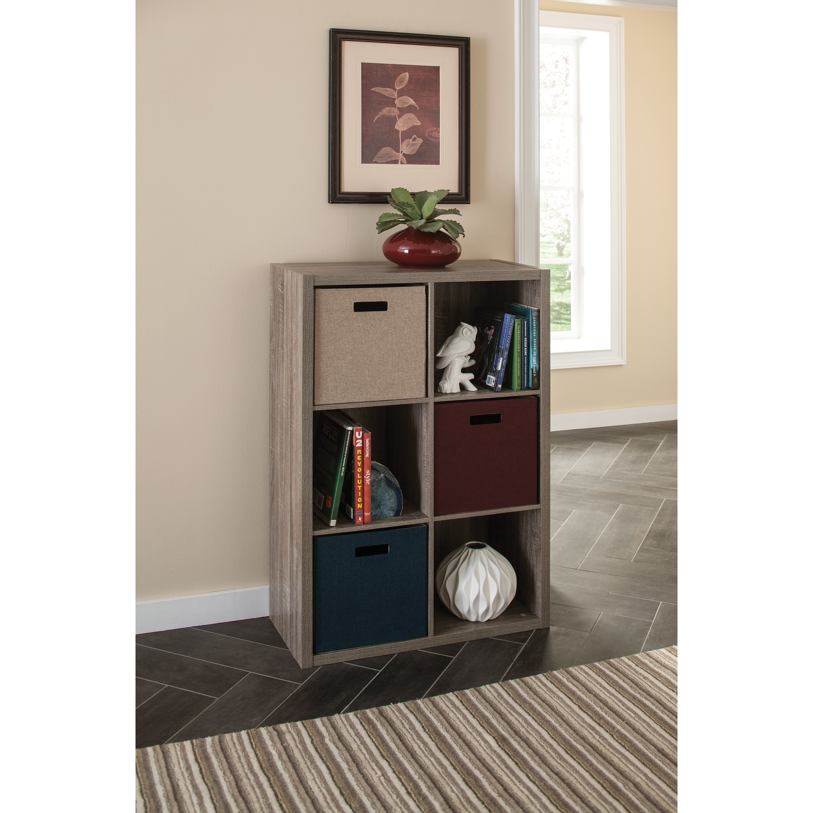 open handy p avington sturdy bookcase unit shelf storage threshold organizer cube