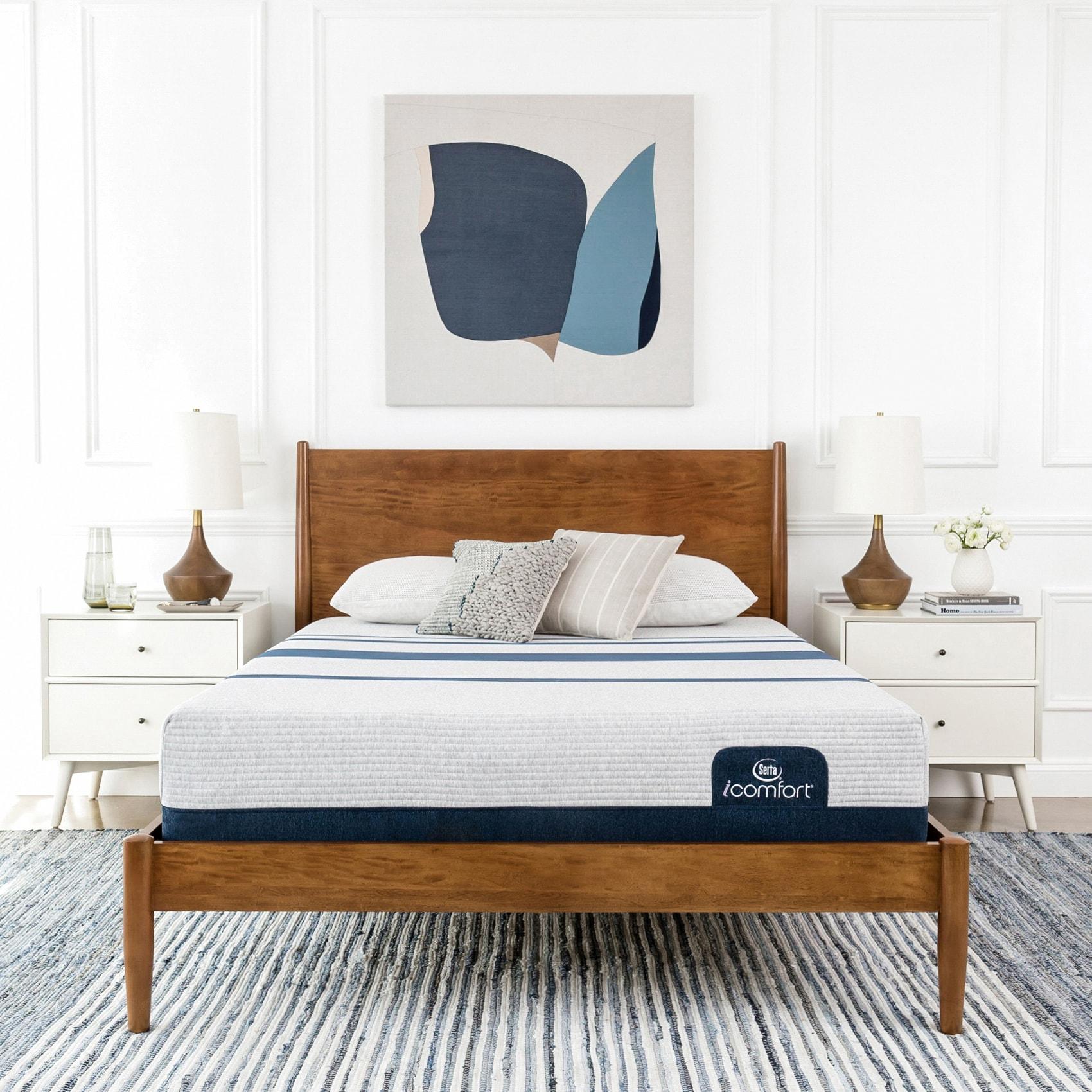 Serta icomfort blue 300 11 inch queen size memory foam mattress