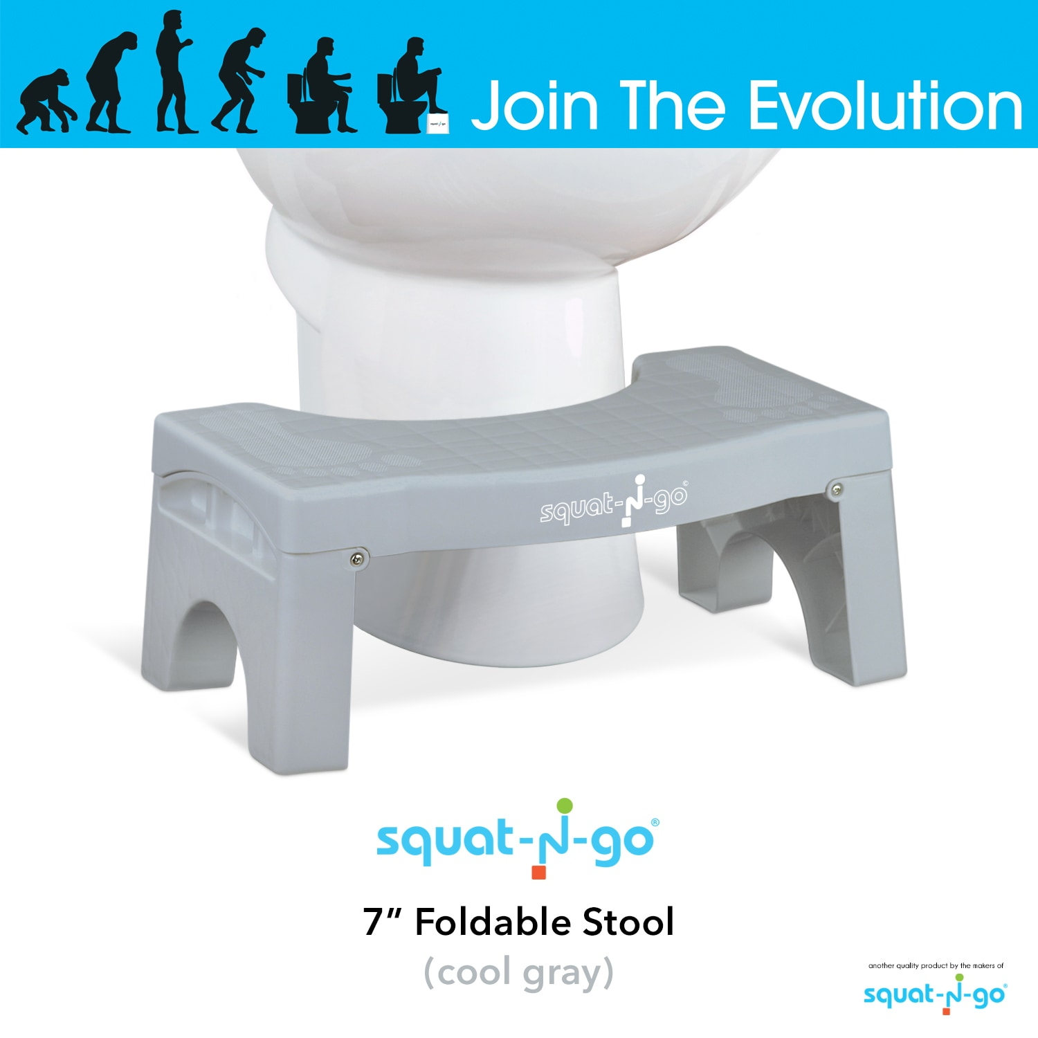 Shop Squat N Go 7-inch Foldable Toilet Stool - Free Shipping On ...