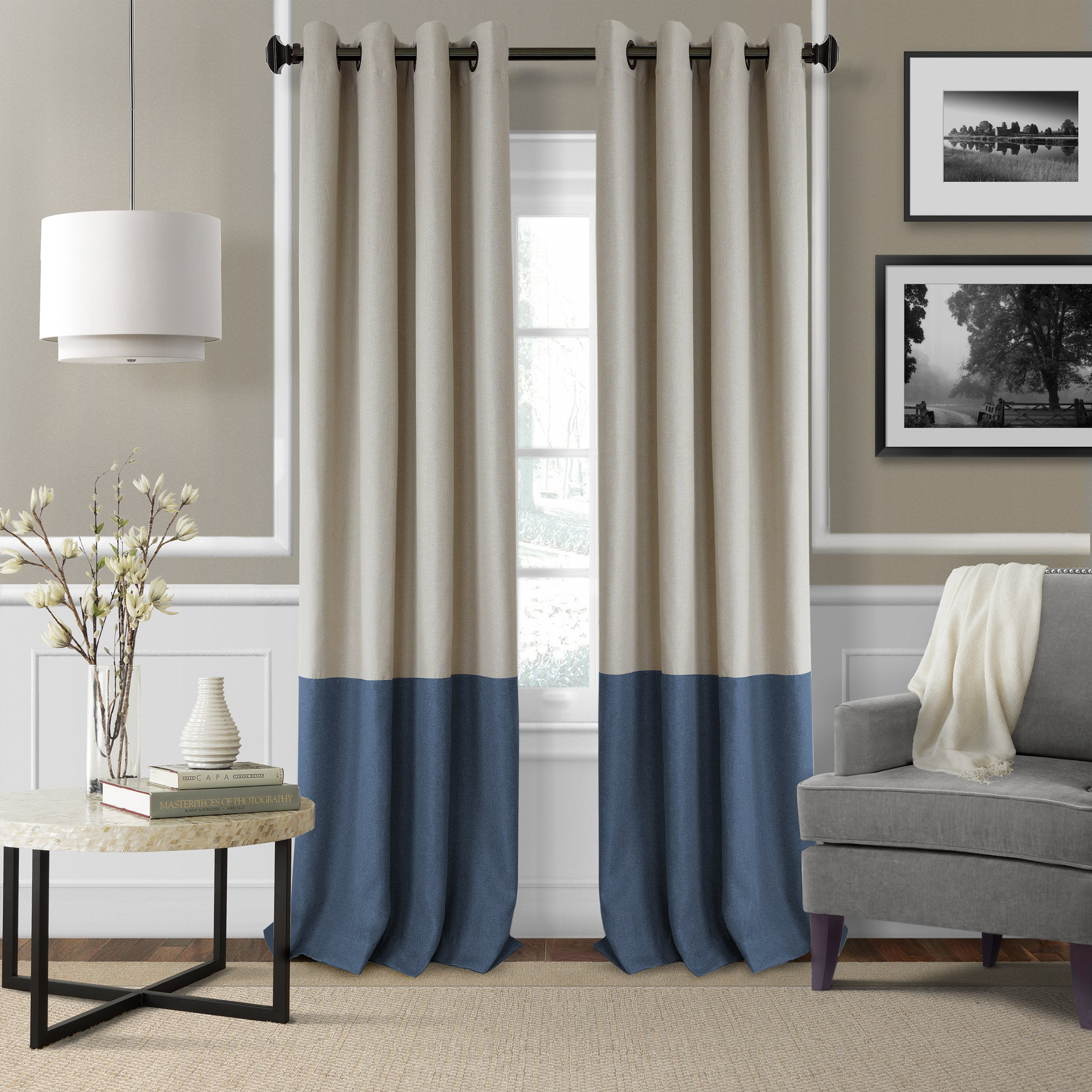 Elrene Braiden Blackout Curtain Panel - Free Shipping On Orders Over $45 -  Overstock.com - 22741827