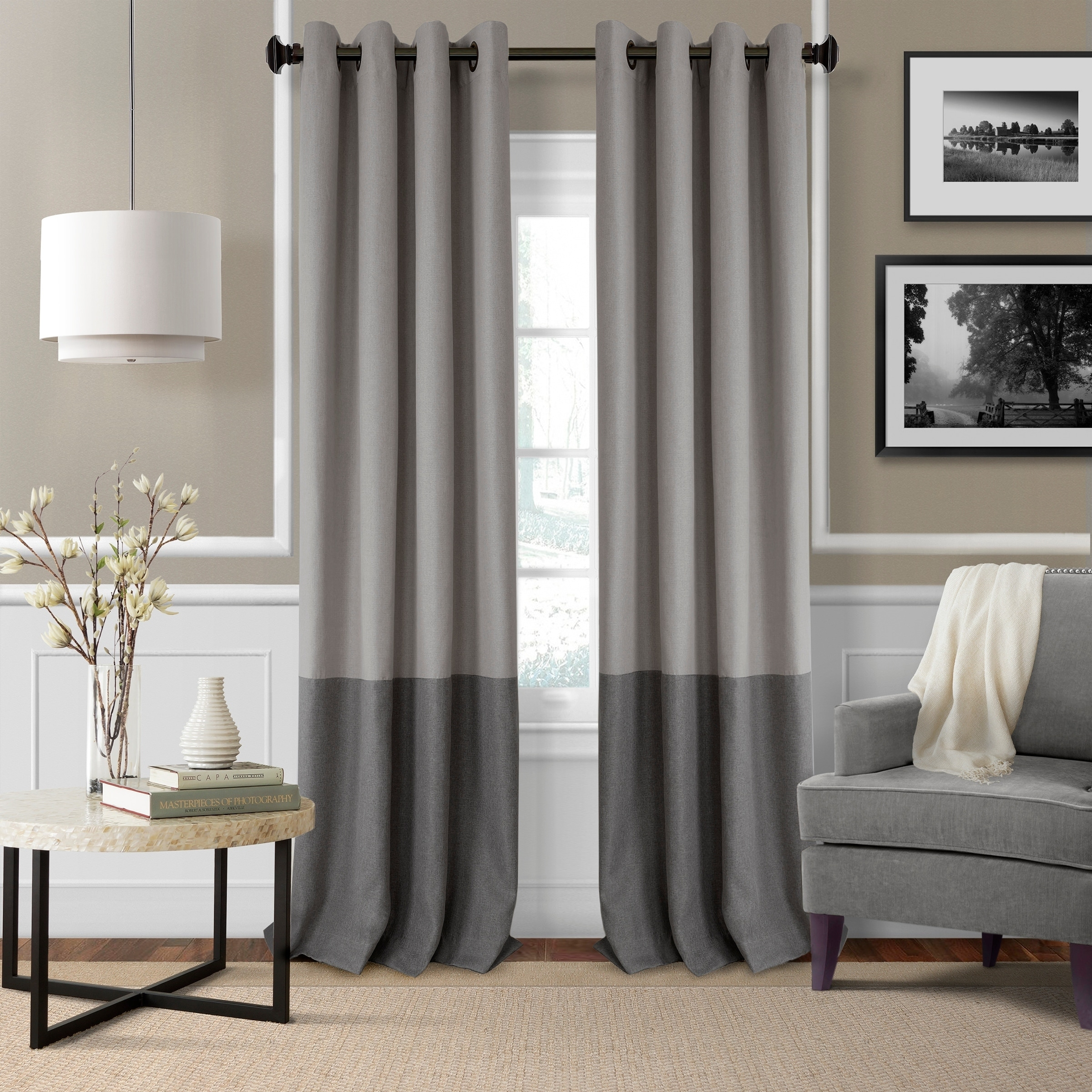 gray pin curtain braswell reviews blackout curtains wayfair linen grove august thermal panels
