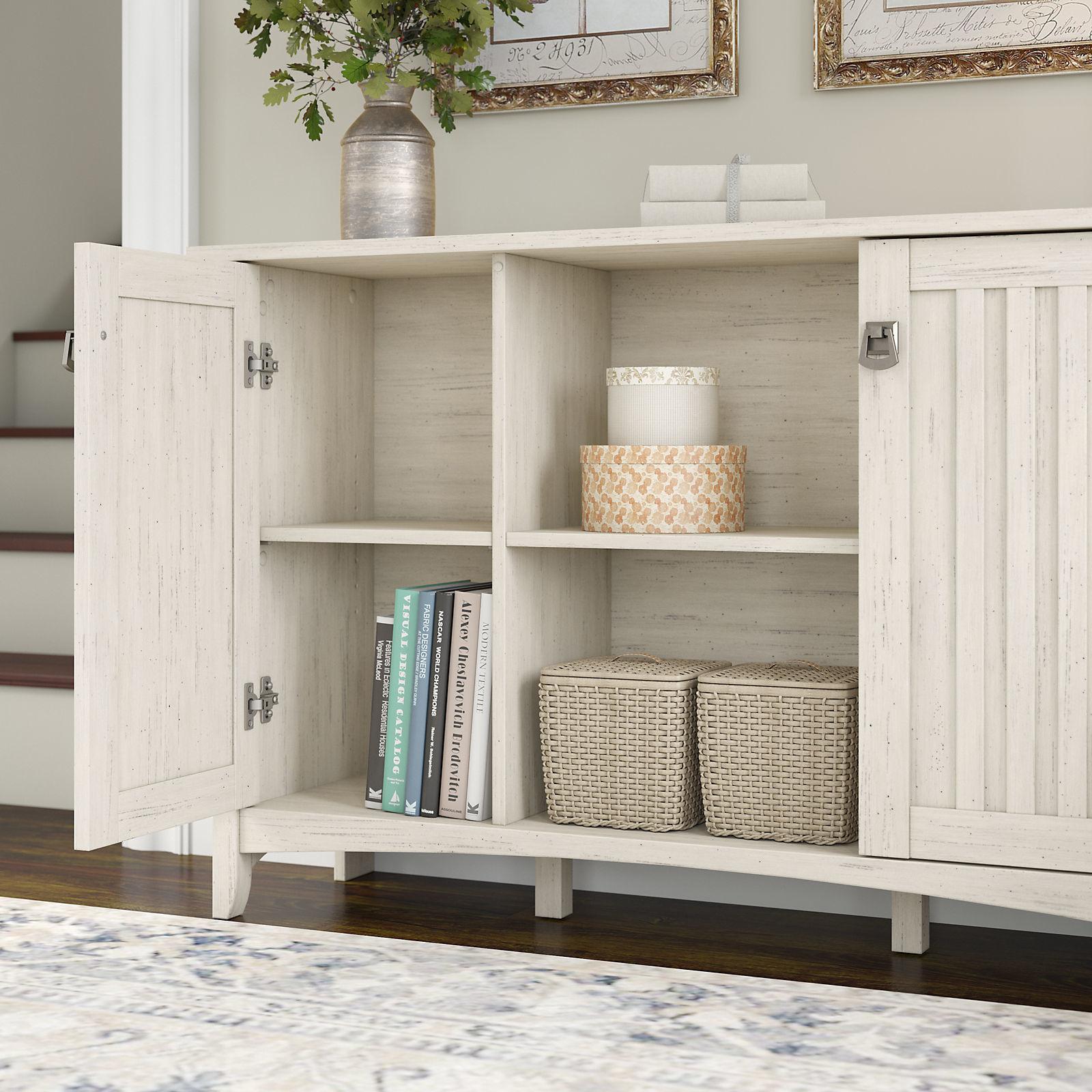 Shop Maison Rouge Lucius Antique White Storage Cabinet With Doors