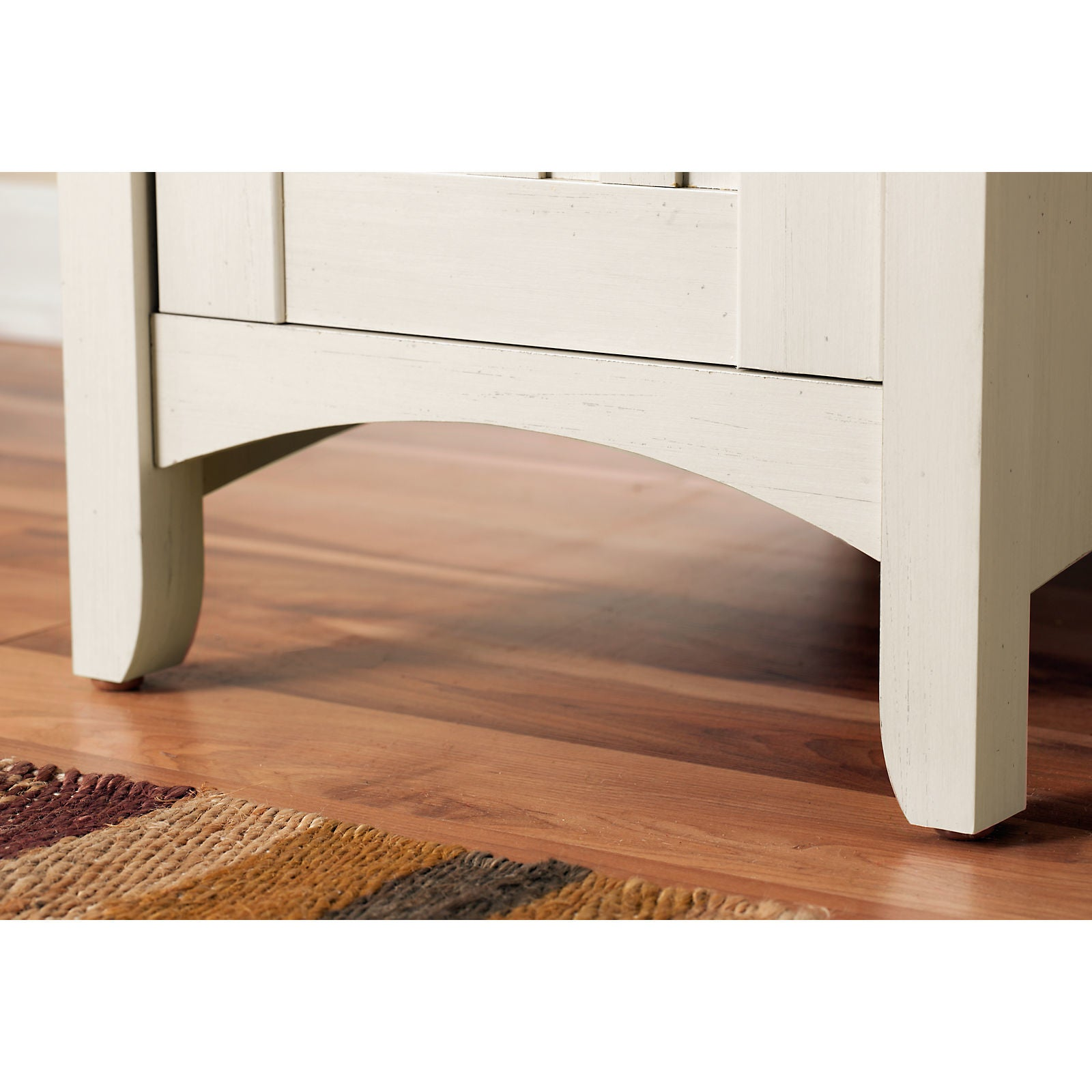 Shop Maison Rouge Lucius Antique White L Shaped Storage Desk   Free  Shipping Today   Overstock.com   20133407