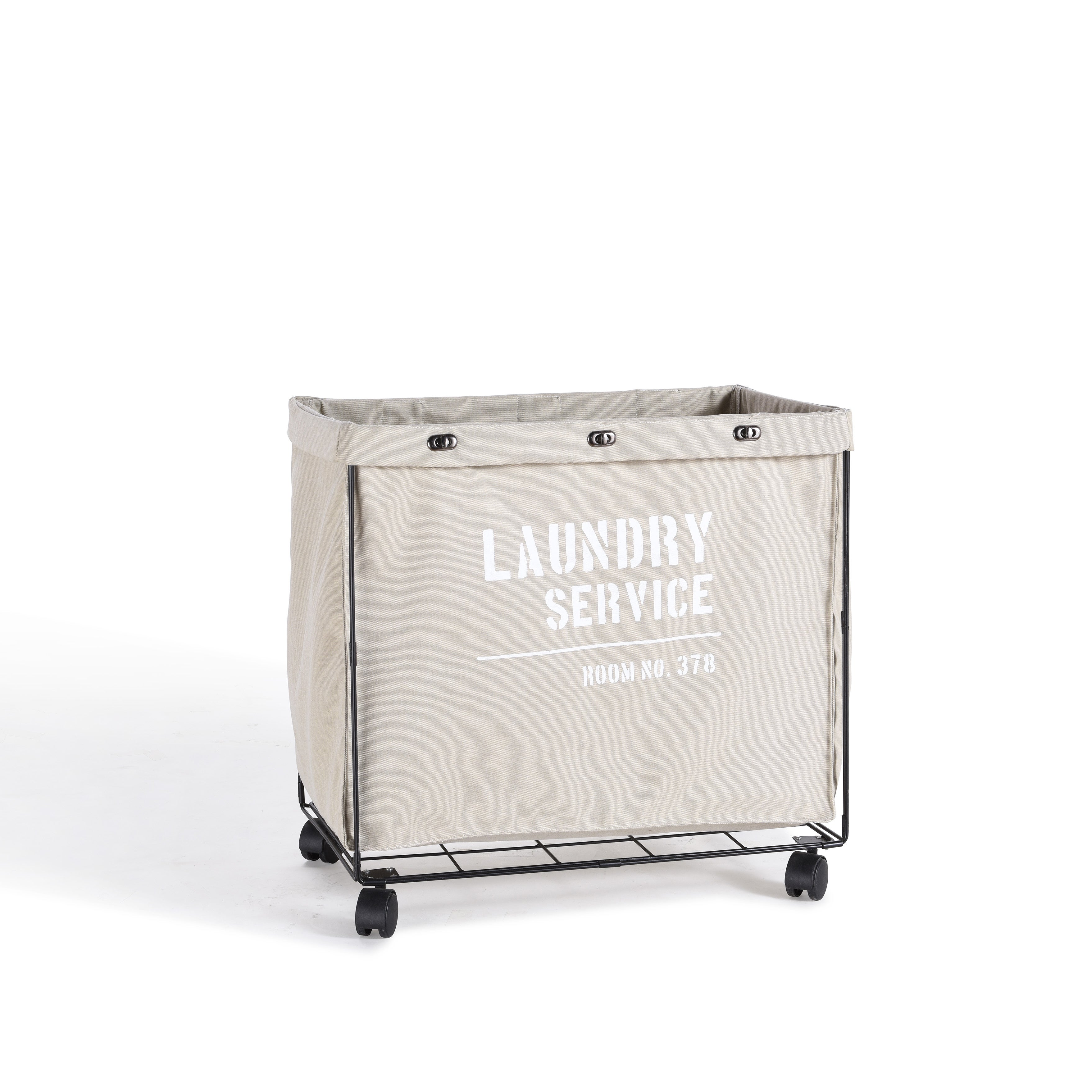 Danya B Army Canvas Laundry Hamper on Wheels Free Shipping Today
