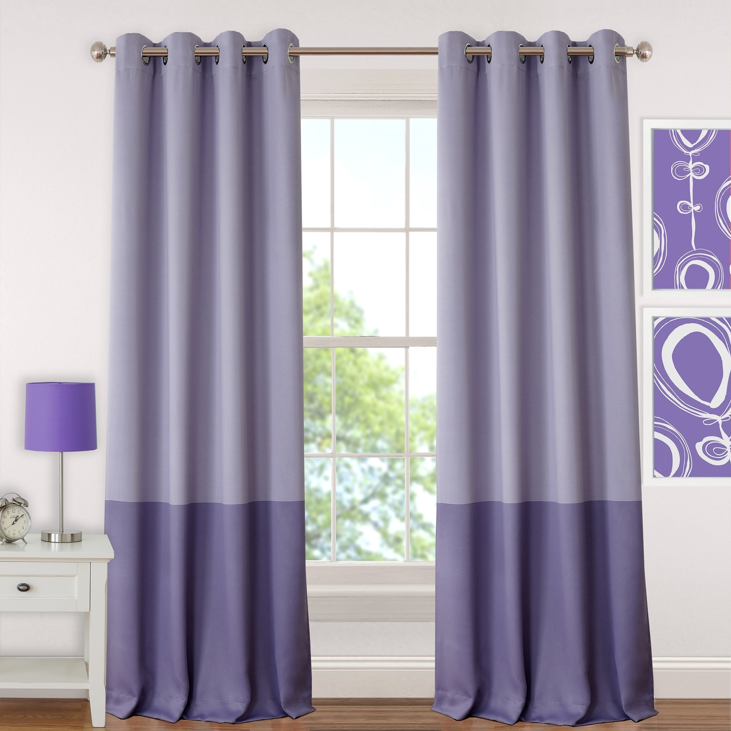 drapes dots or ip thermal eclipse walmart curtains purple girls curtain com blackout bedroom panel