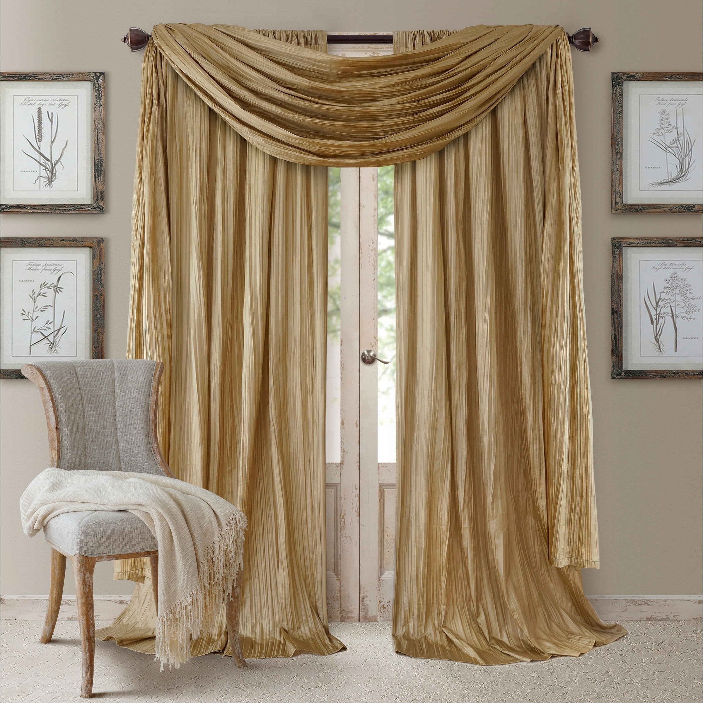 lush panel ombre curtains shipping overstock decor product ruffle panels home today free garden curtain